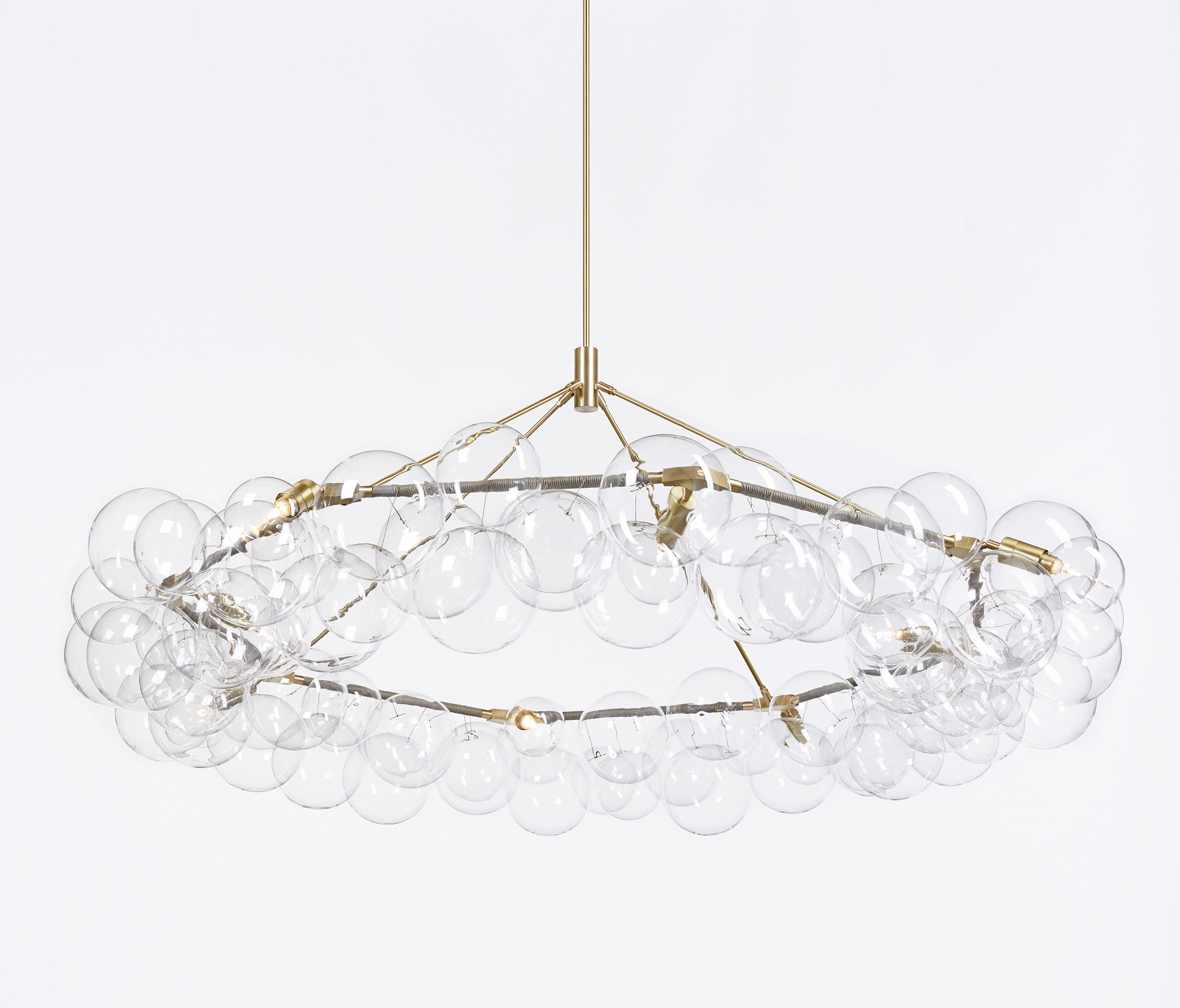 wreath bubble chandelier by pelle general lighting - Bubble Chandelier