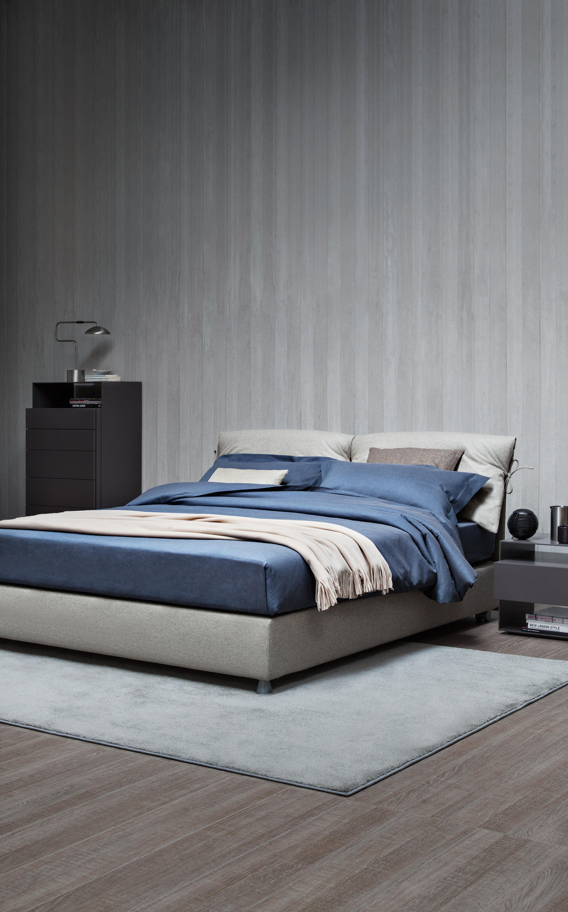 Nathalie bed double beds from flou architonic - Cambiare rivestimento letto flou nathalie ...