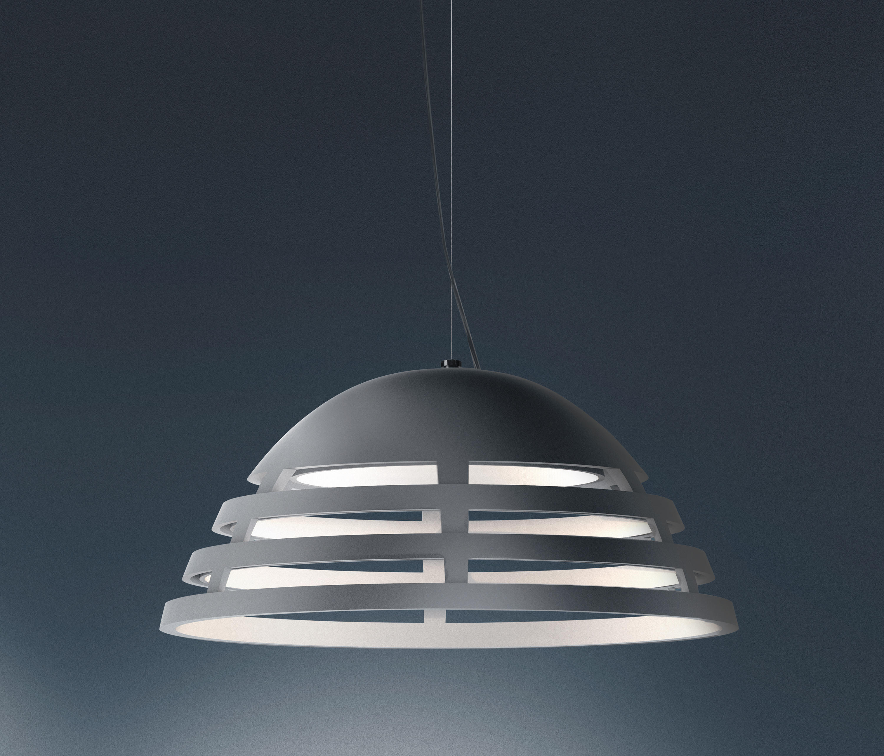 Incipit suspension general lighting from artemide for Suspension 4 lampes
