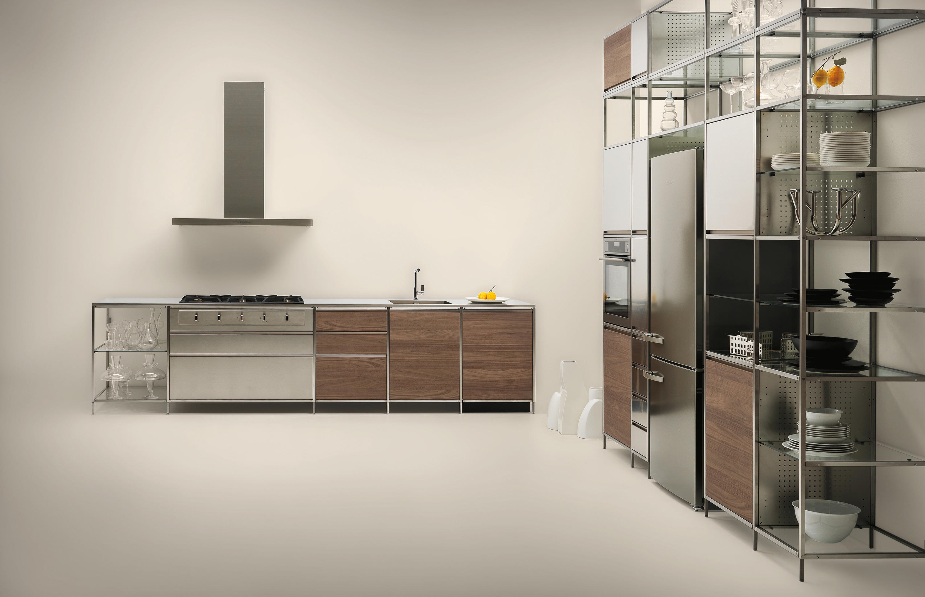 meccanica stainless steel by valcucine fitted kitchens