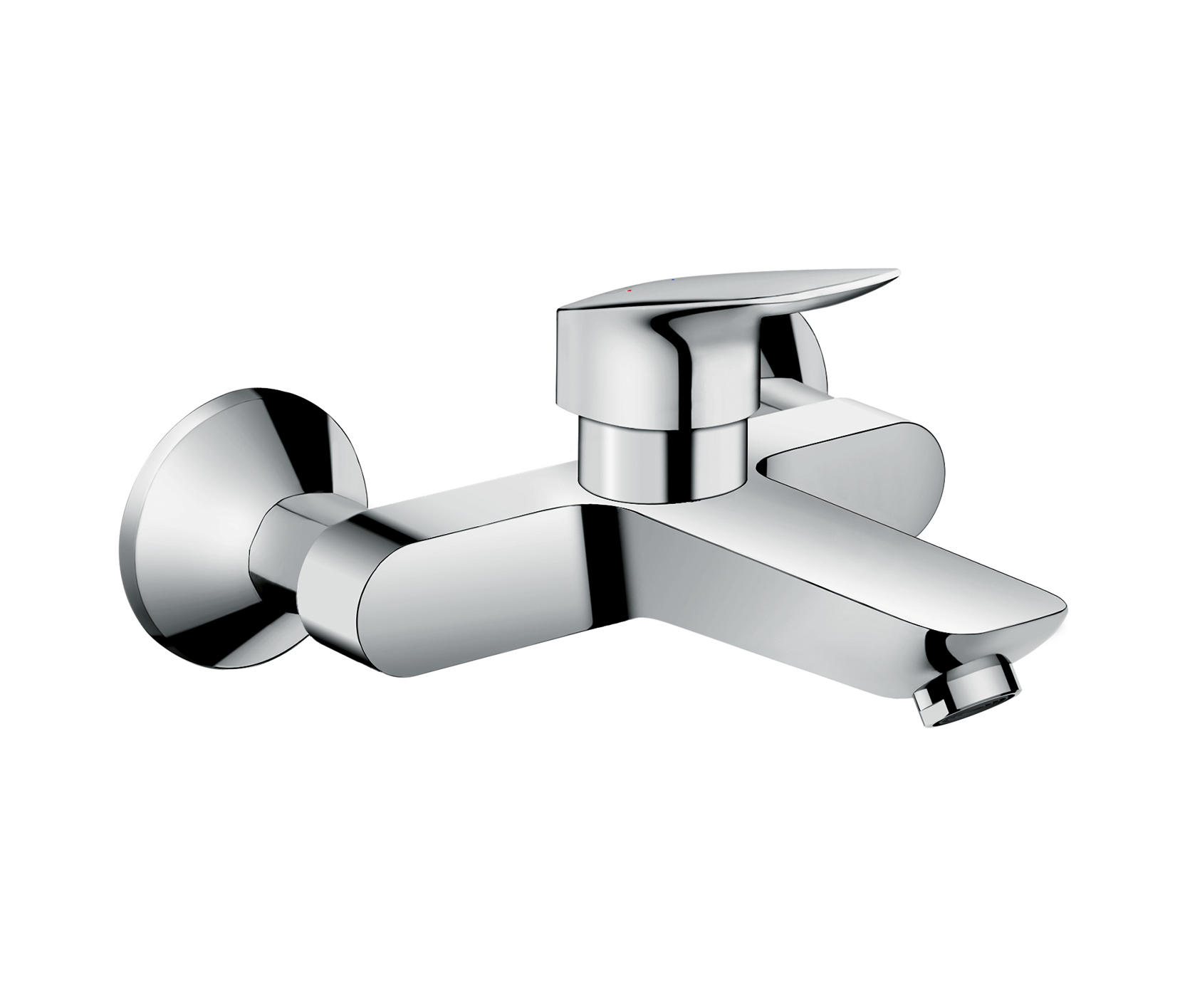 Hansgrohe logis single lever basin mixer wall mounted for Robinetterie murale lavabo