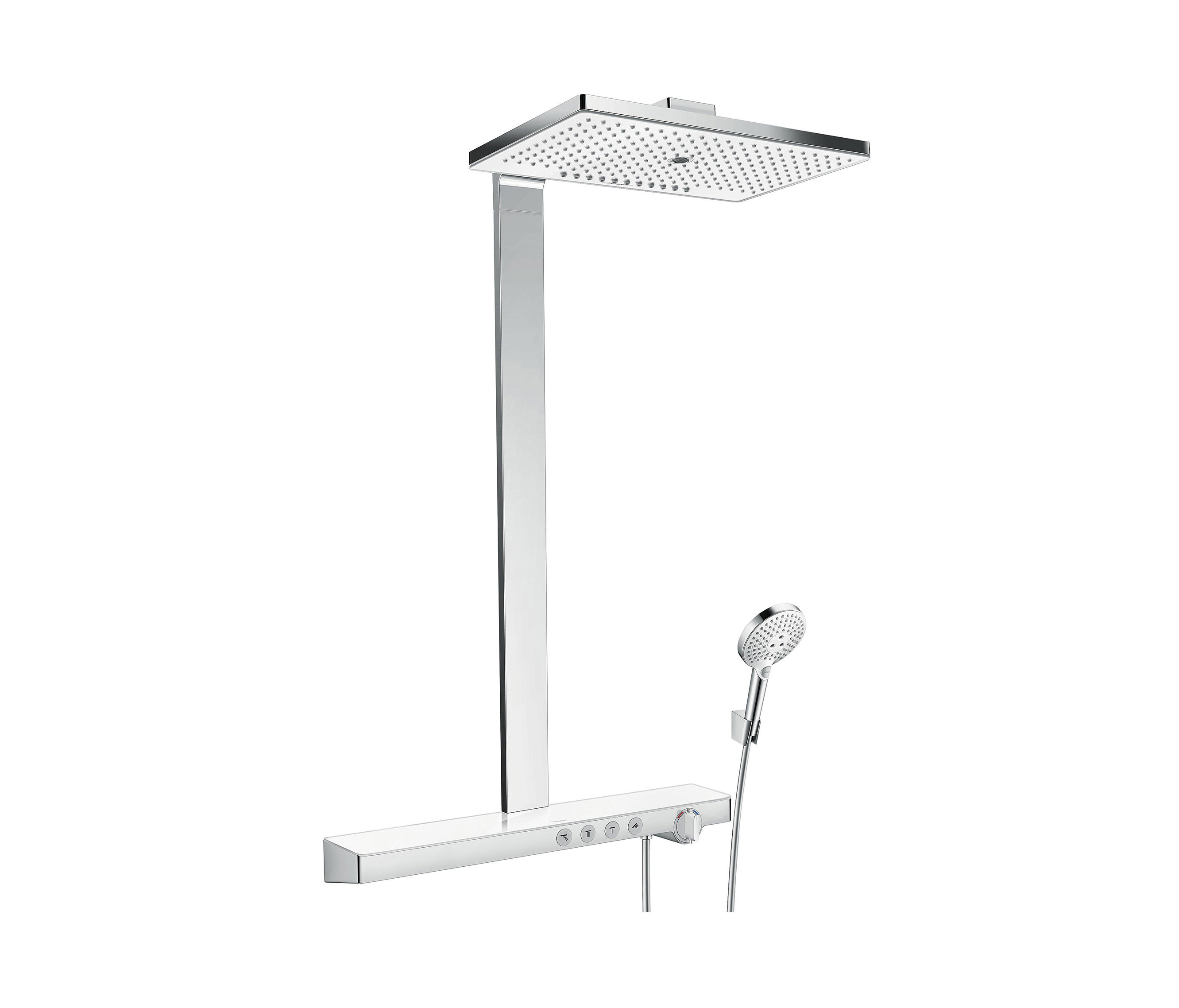 hansgrohe rainmaker select 460 3jet showerpipe duscharmaturen von hansgrohe architonic. Black Bedroom Furniture Sets. Home Design Ideas