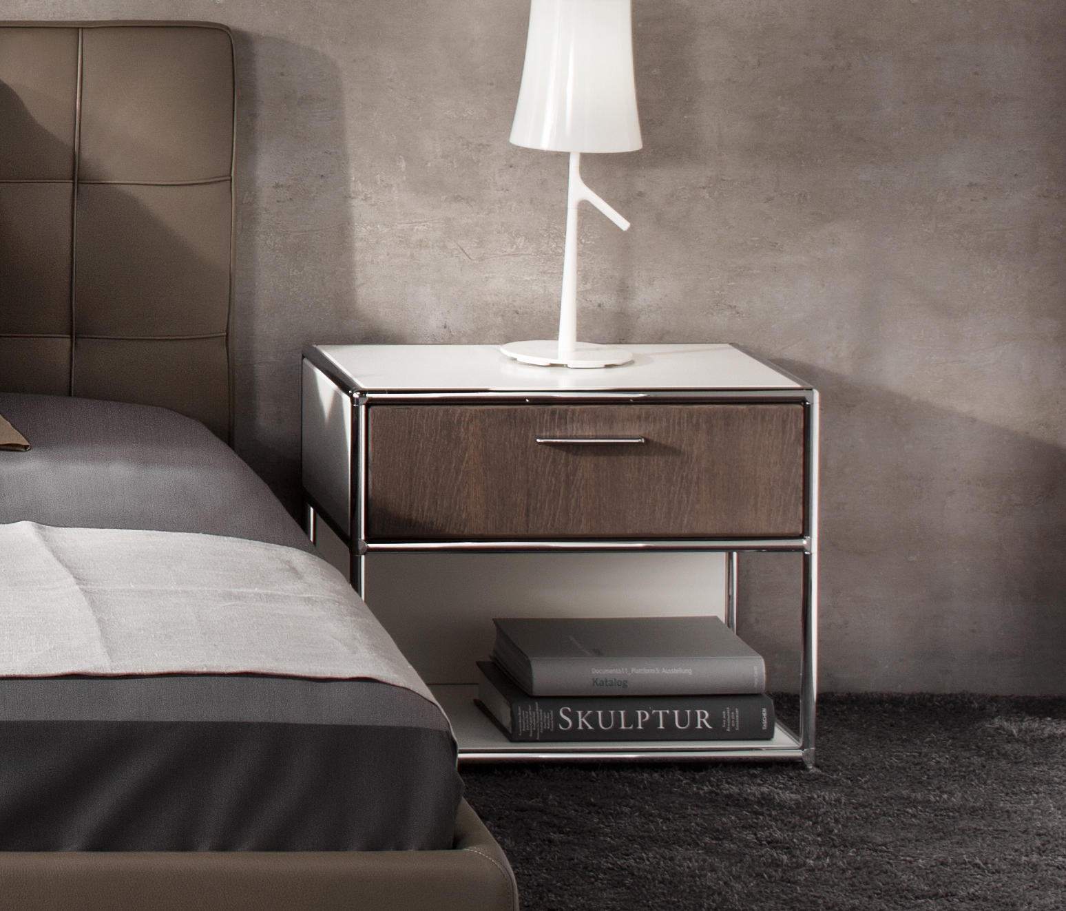 bedside table night stands from dauphin home architonic. Black Bedroom Furniture Sets. Home Design Ideas