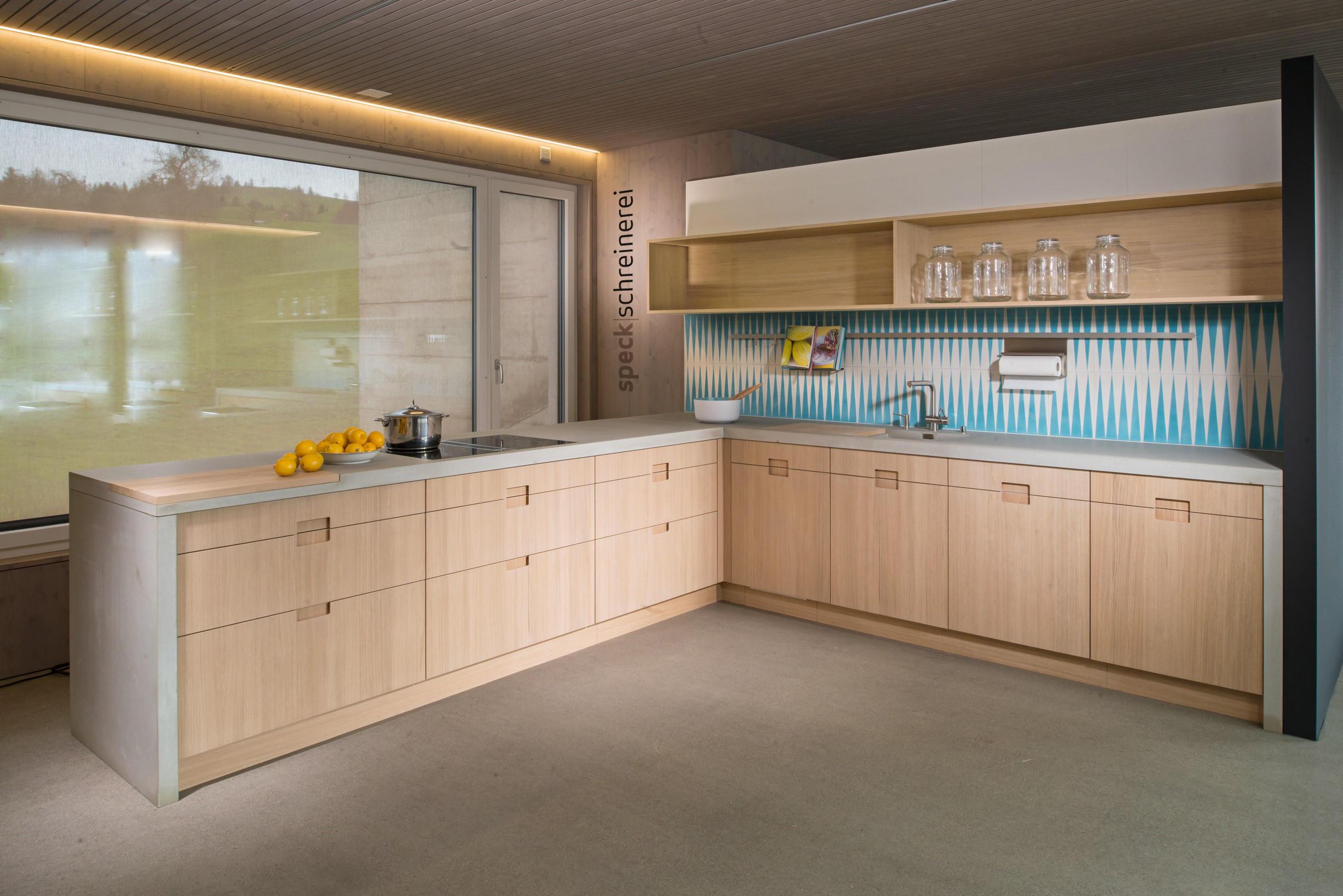 Concrete kitchen design example countertops from dade for Kitchen design examples