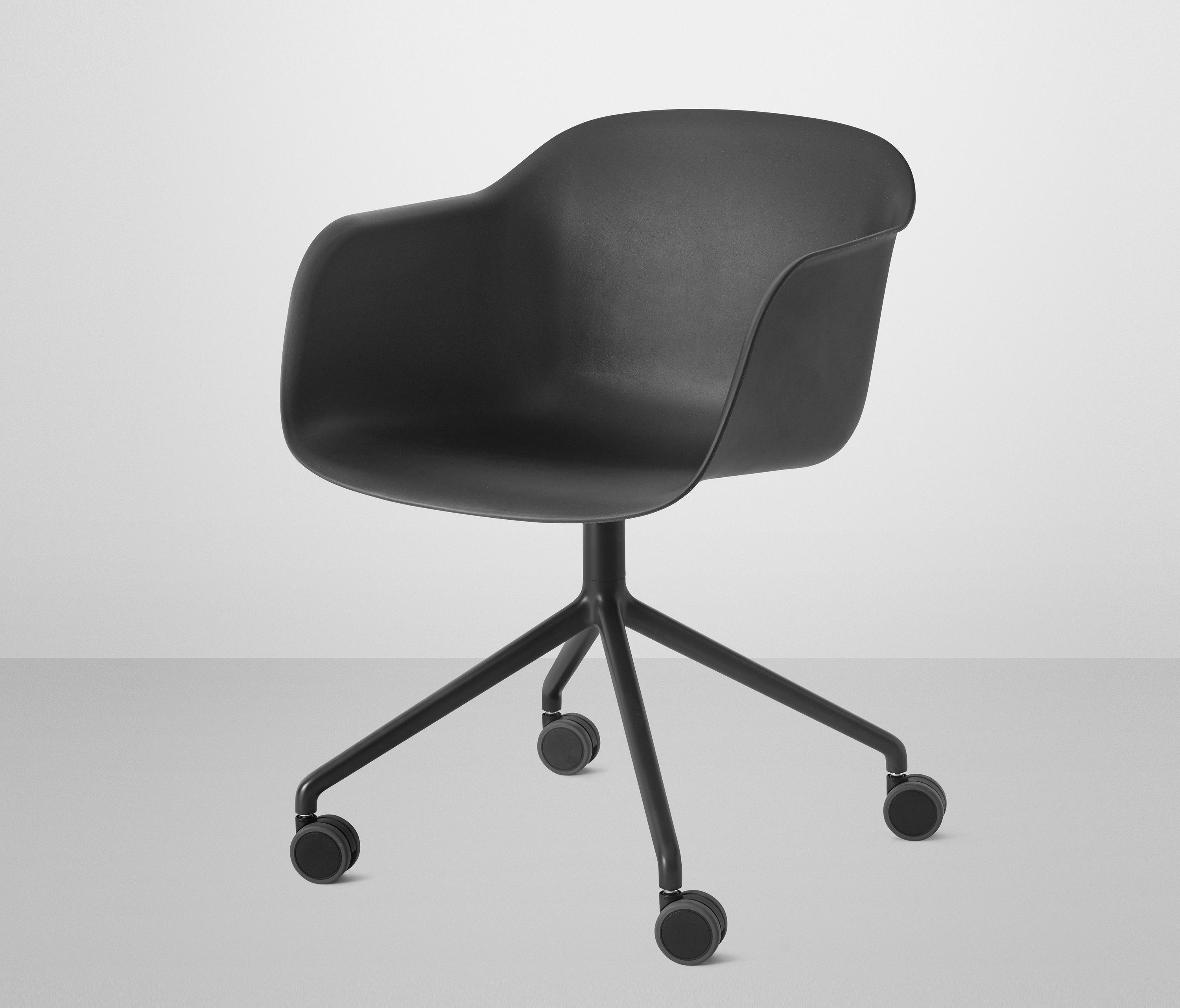 fiber armchair swivel base with wheels chairs from. Black Bedroom Furniture Sets. Home Design Ideas