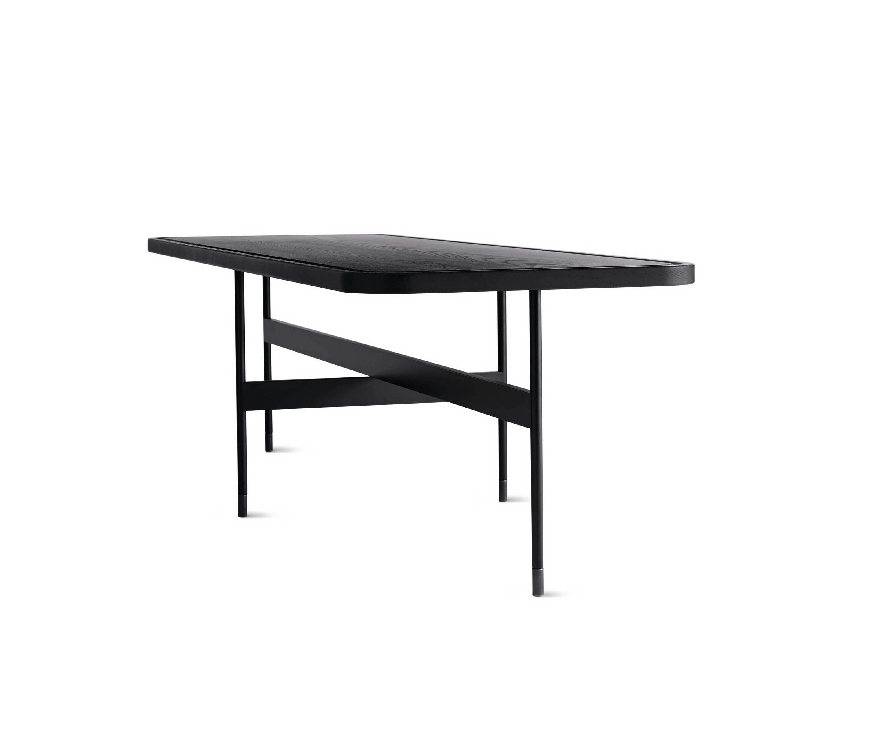 crossover rectangular coffee table - lounge tables from design