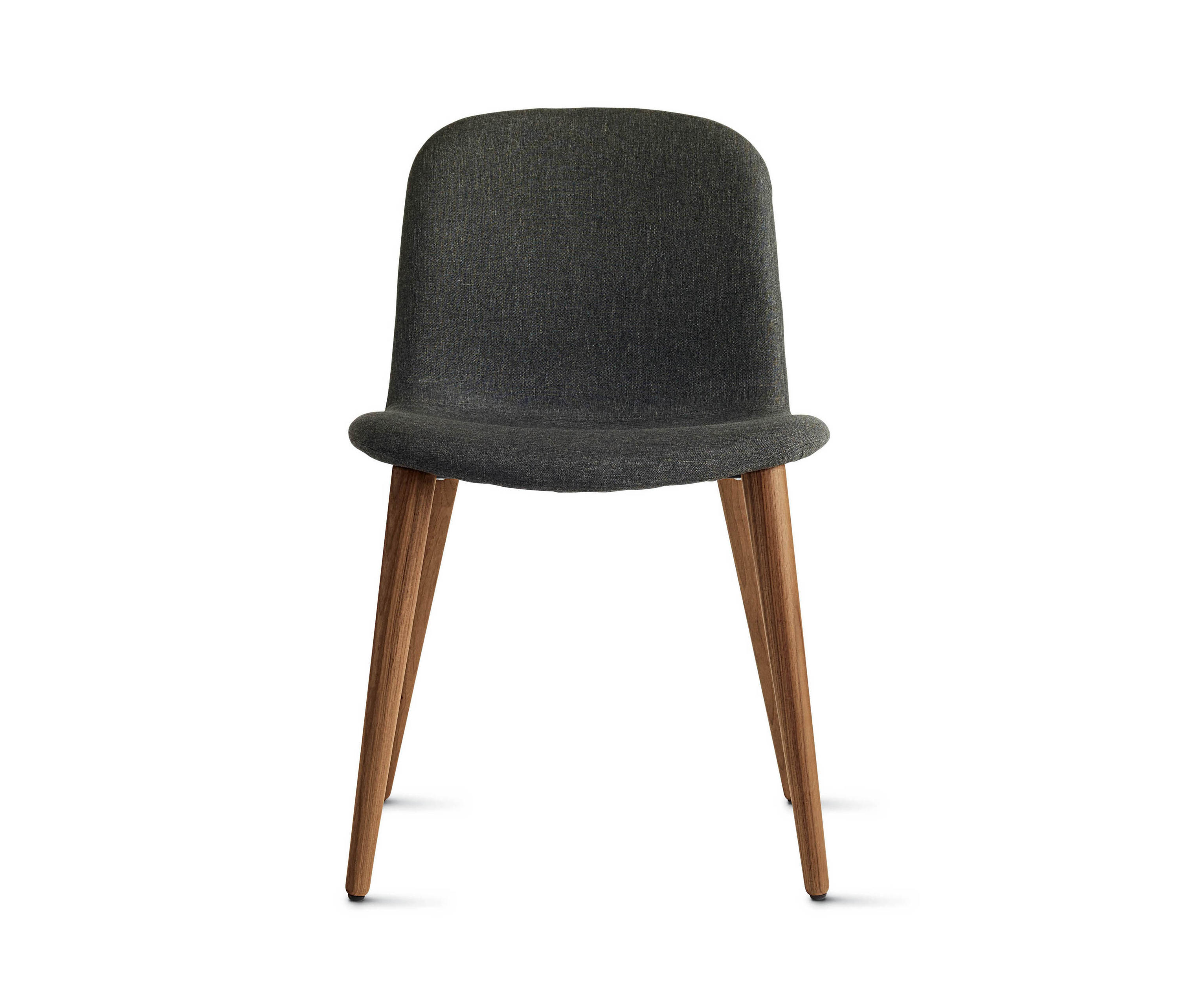 Bacco Chair In Fabric Walnut Legs Visitors Chairs