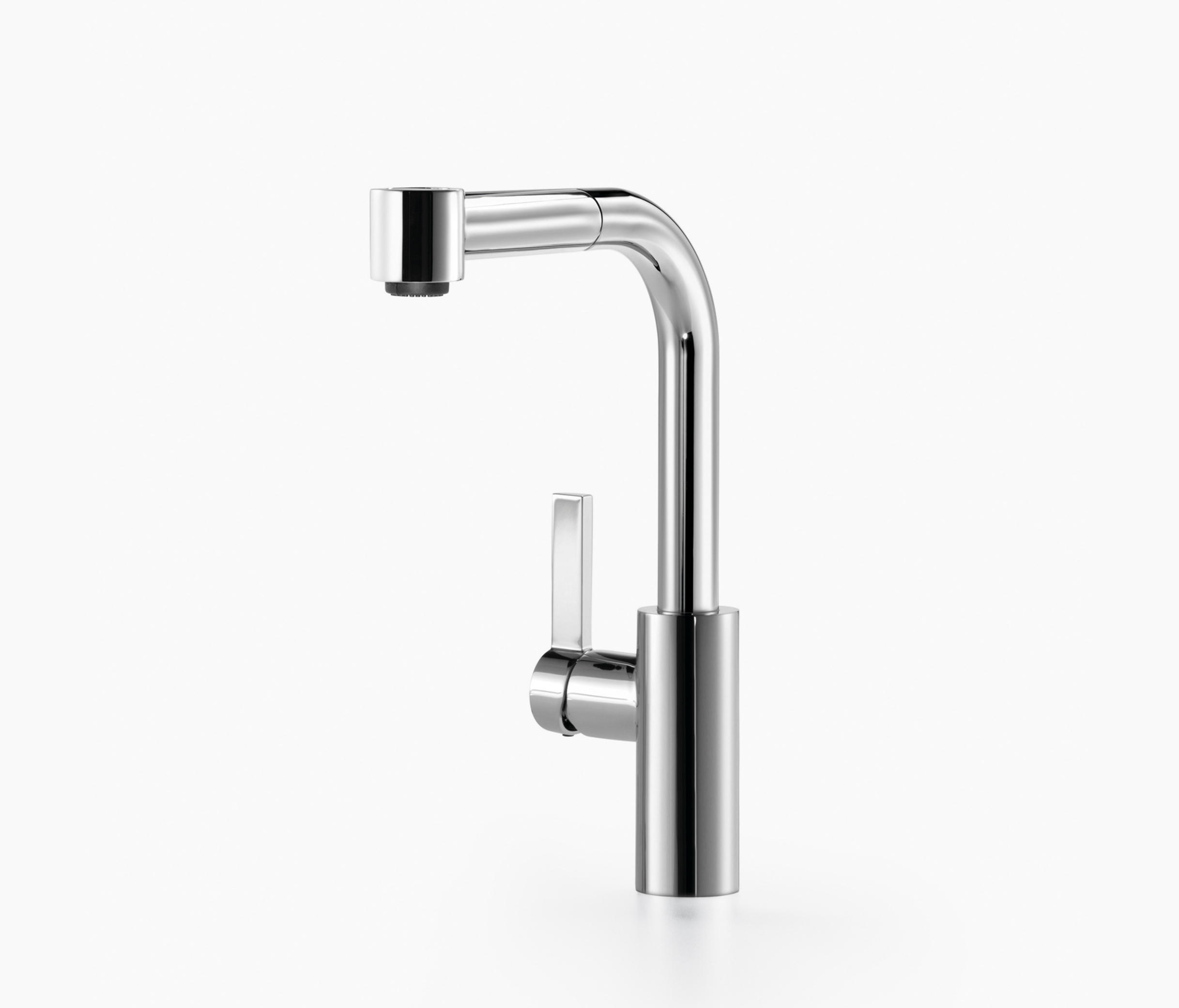 elio single lever mixer with extending spray kitchen taps from dornbracht architonic. Black Bedroom Furniture Sets. Home Design Ideas