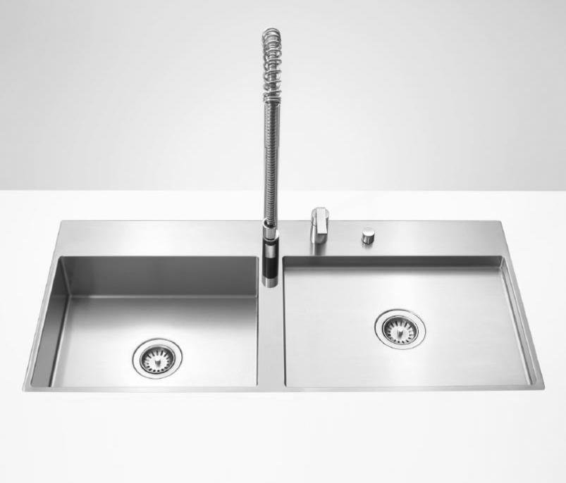 water units doppelbecken k chensp lbecken von dornbracht architonic. Black Bedroom Furniture Sets. Home Design Ideas