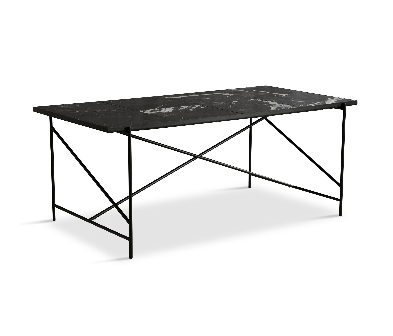 Dining table 185 black black marble by handvärk dining tables