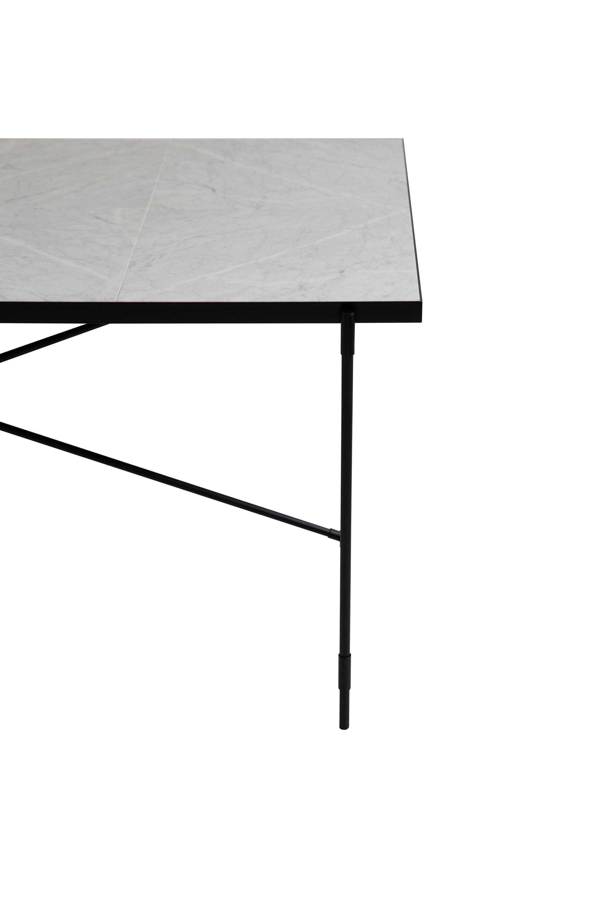 Dining table 185 black on black white marble dining tables by handv rk architonic - White marble dining tables ...