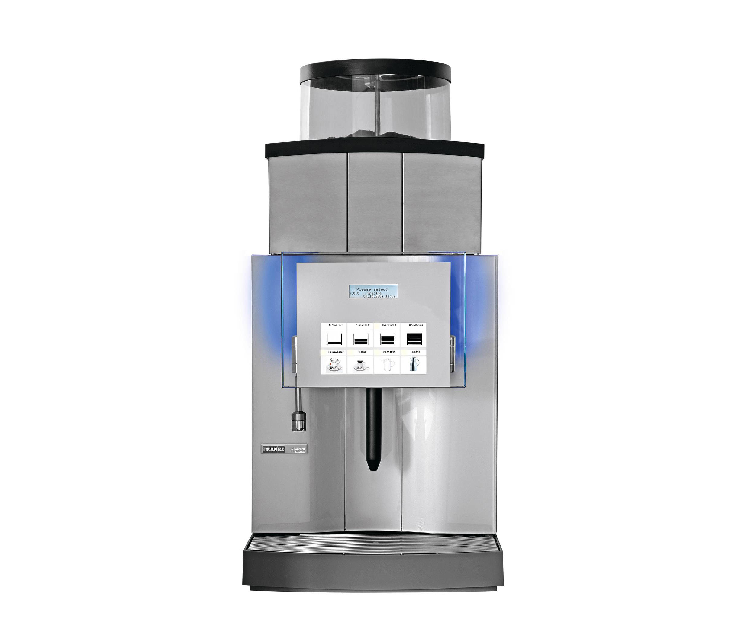 spectra x xl machines caf de franke kaffeemaschinen. Black Bedroom Furniture Sets. Home Design Ideas