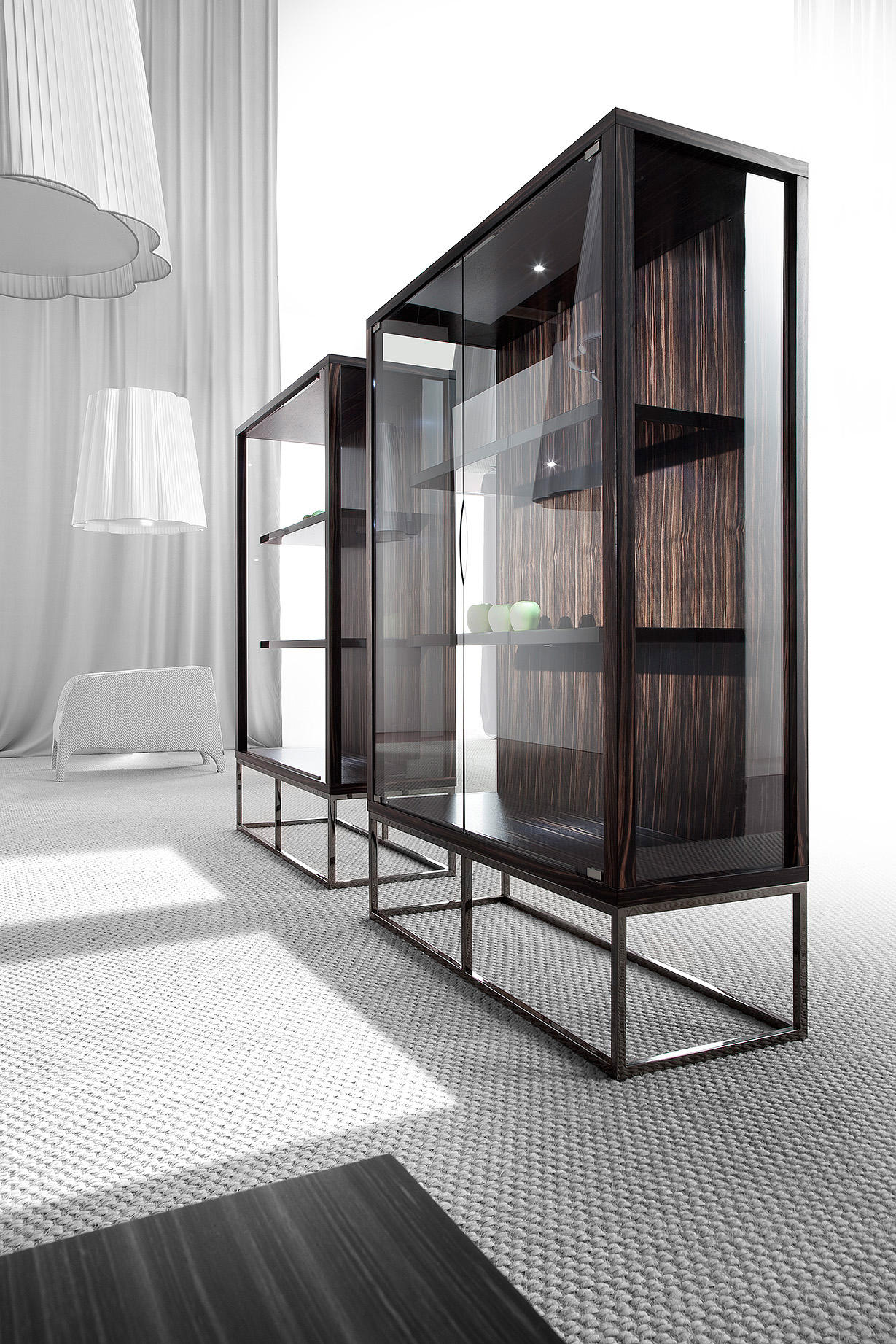 Pensami glass cabinet display cabinets from erba italia for Design a case