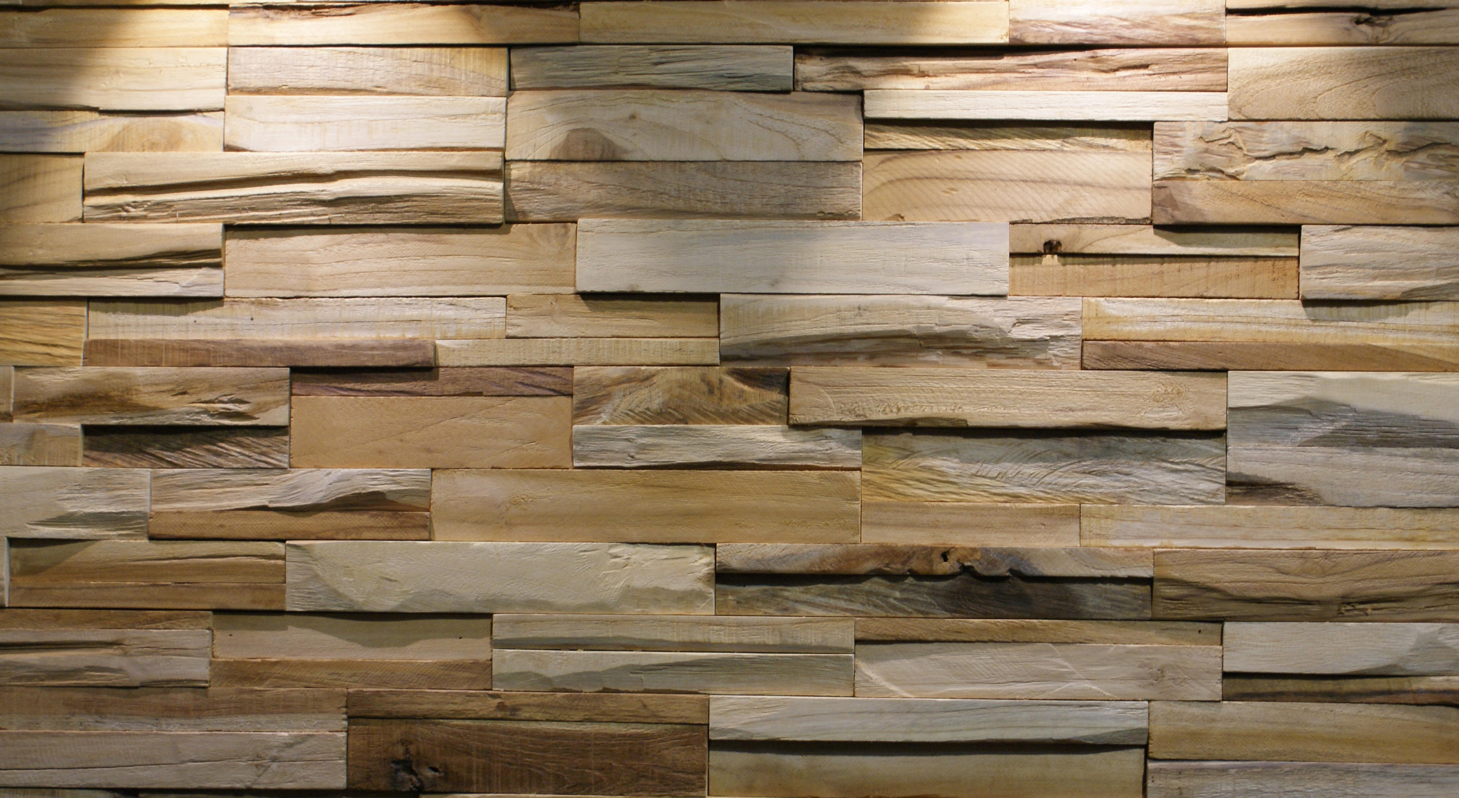 Bumpy Wood Panels From Teak Your Wall Architonic