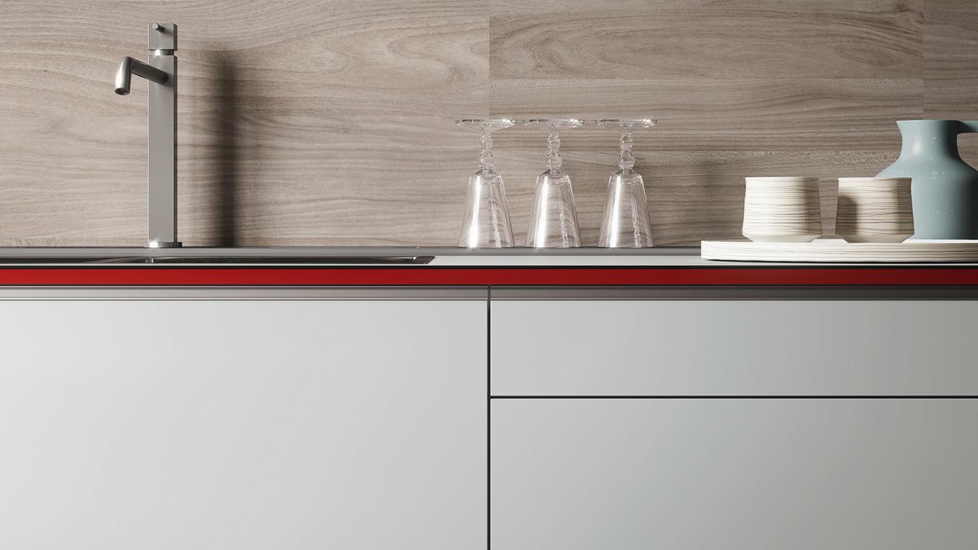 Forma mentis glass and melamine wood finish door - Valcucine forma mentis ...