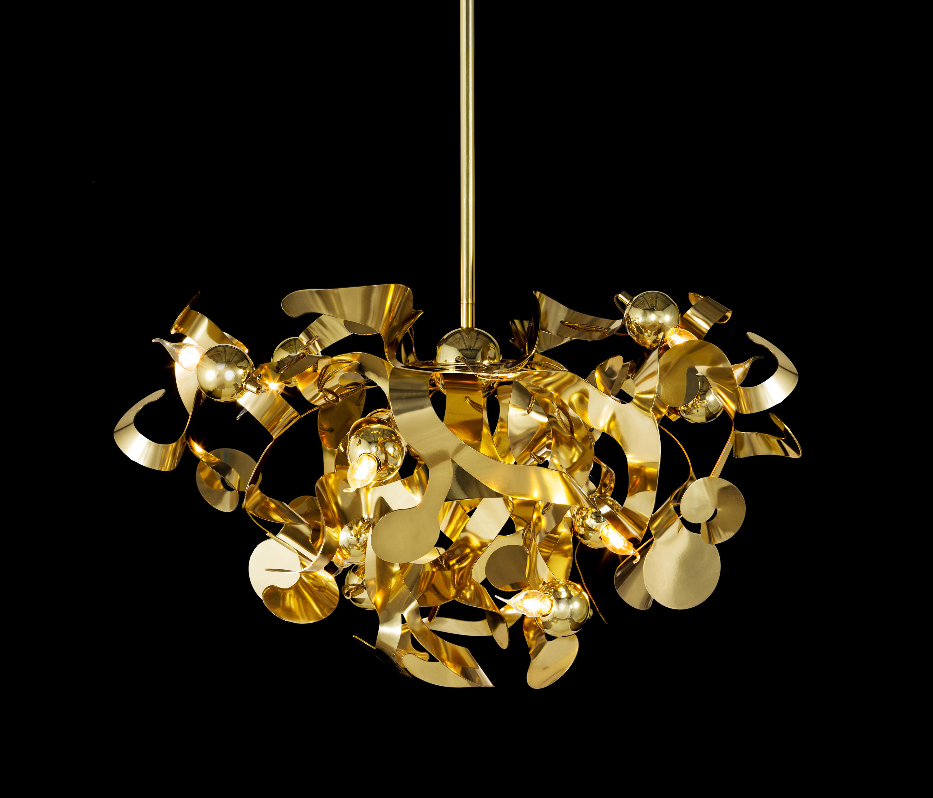kelp chandelier round lustres suspendus de brand van. Black Bedroom Furniture Sets. Home Design Ideas
