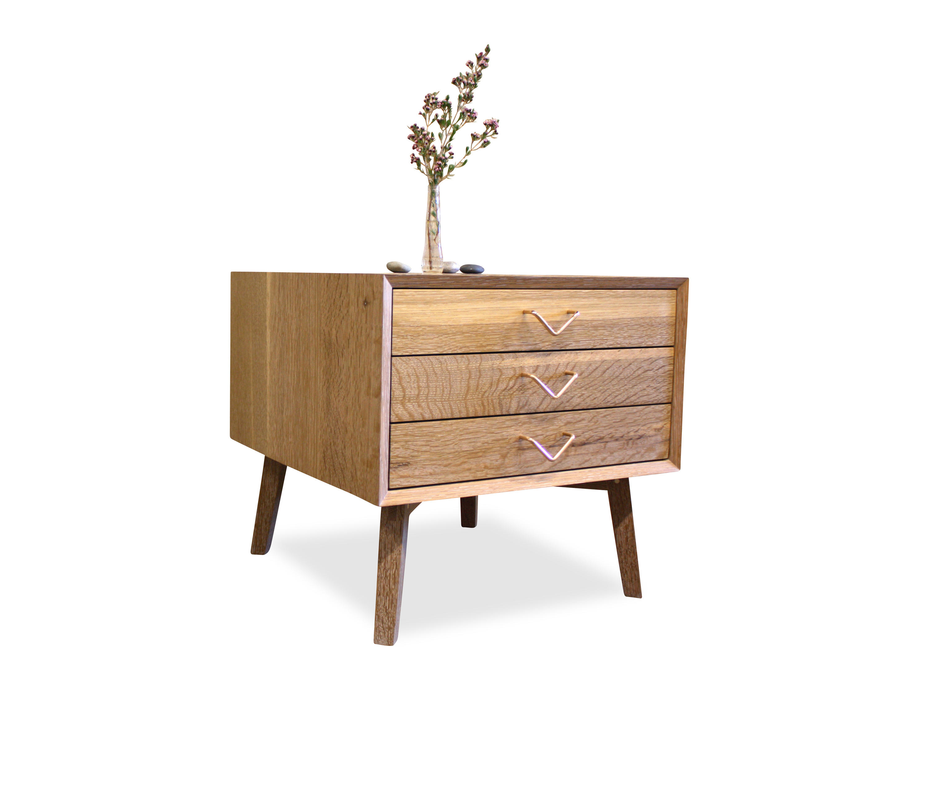 Atlantic Three Drawer Side Table Side Tables From Volk