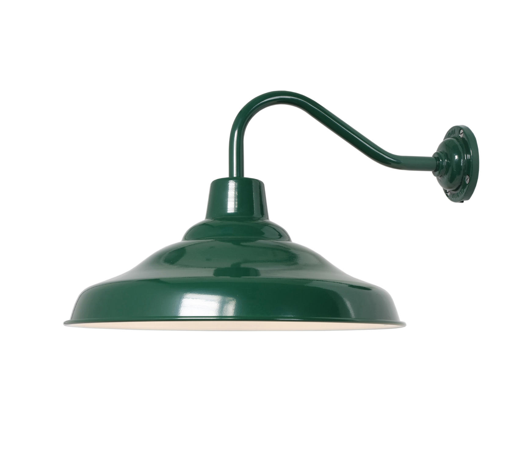 7200 SCHOOL WALL LIGHT, PAINTED GREEN, WHITE INTERIOR - General lighting from Davey Lighting..