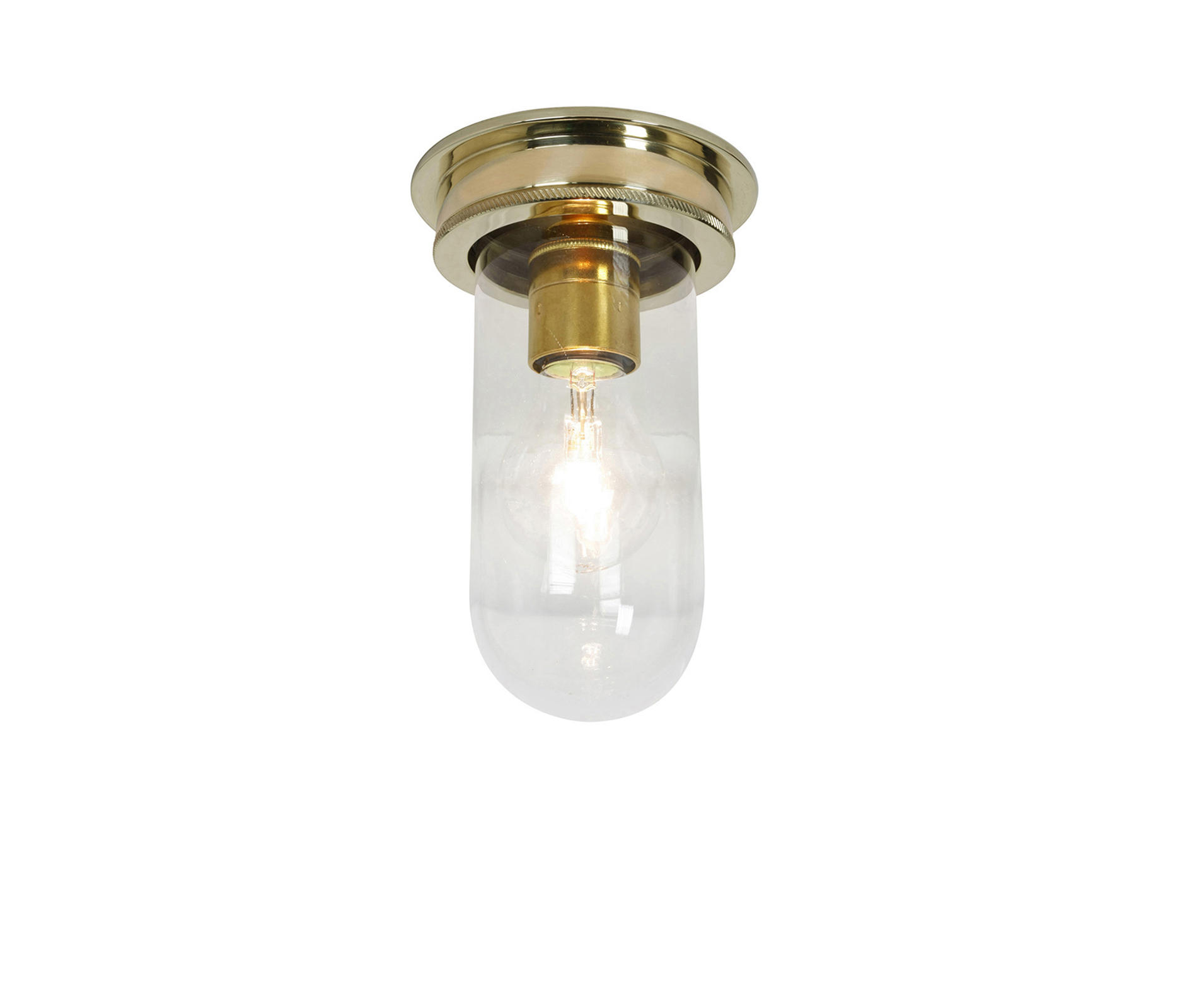 7202 Ship S Companionway Light Polished Br Clear Gl By Original Btc Ceiling Lights