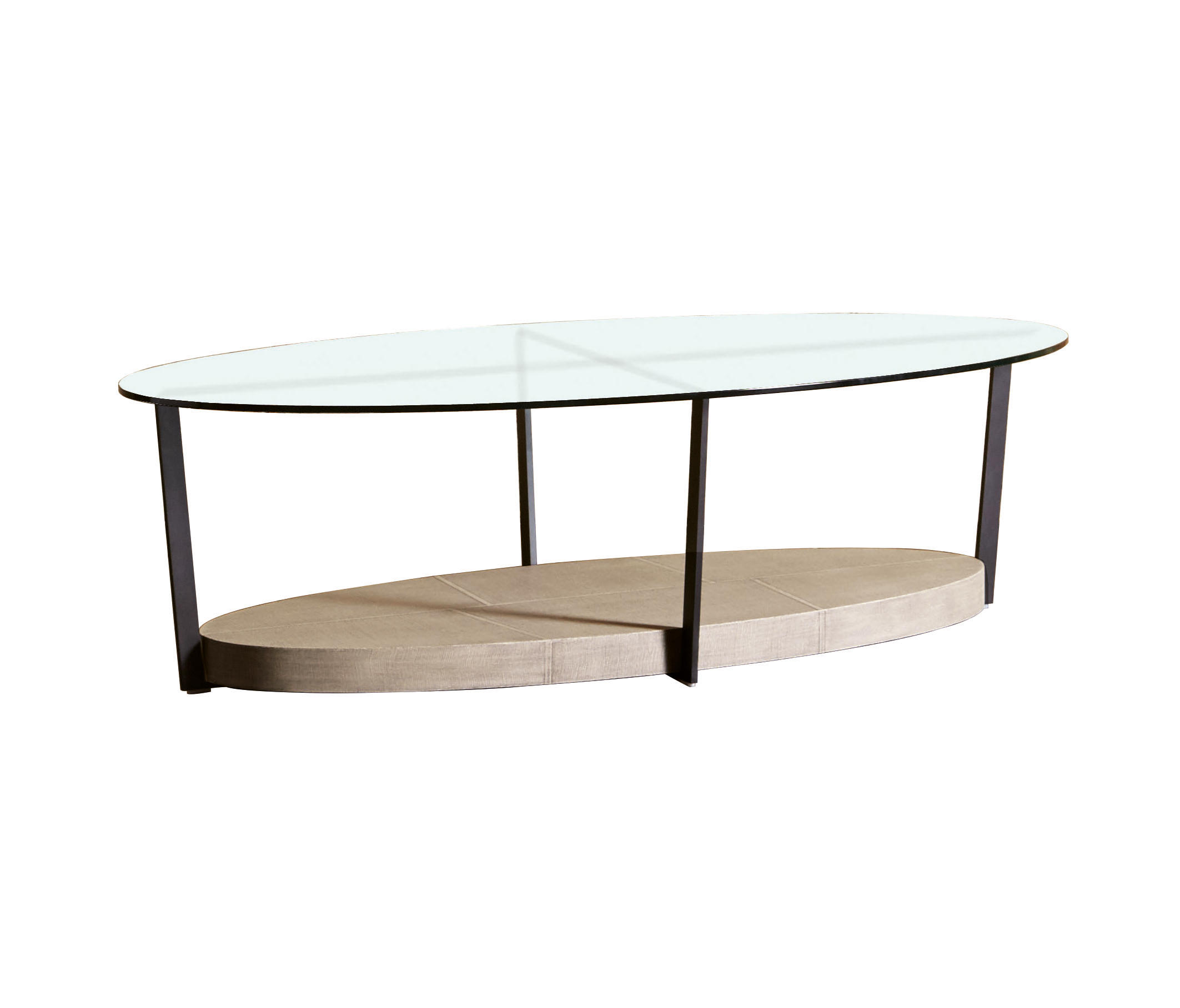 IRON TAVOLINO OVALE CON VETRO - Coffee tables from SanPatrignano ...