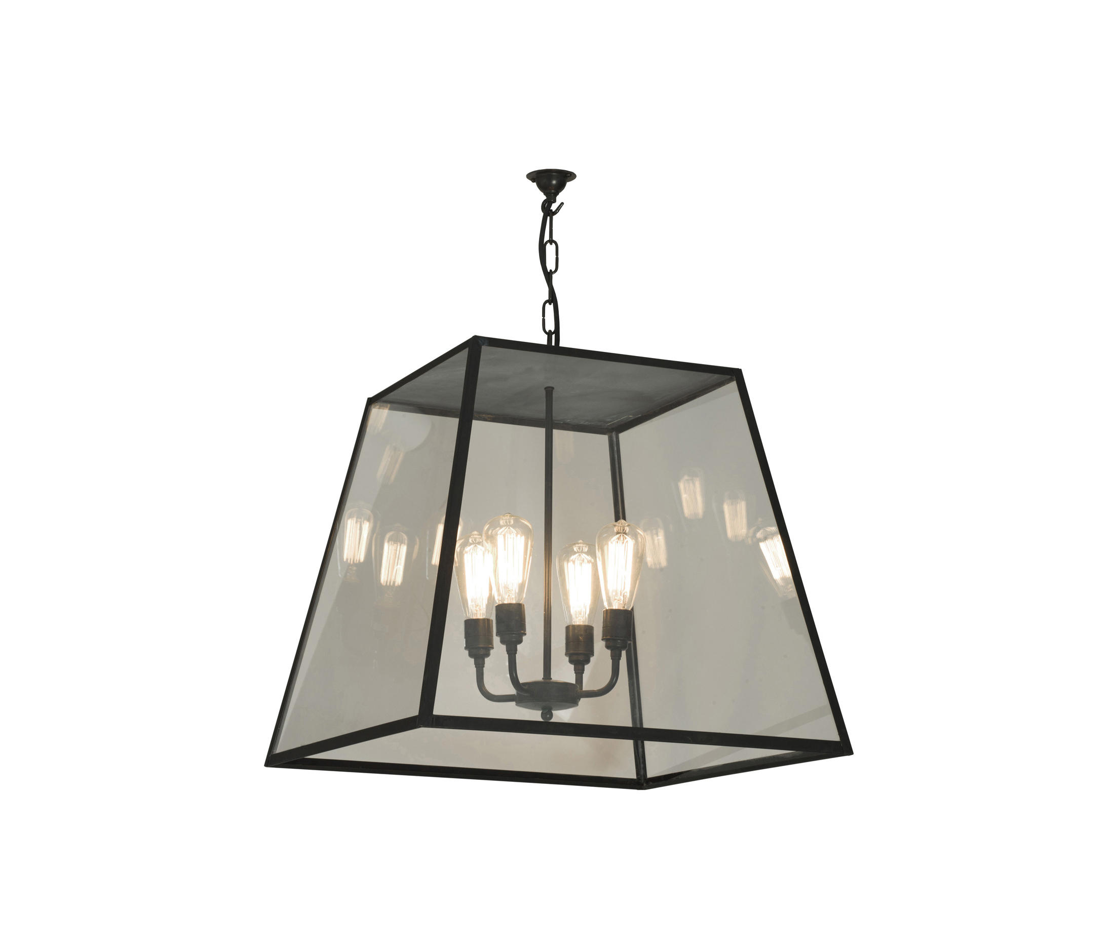 7635 Quad Pendant Xl And 4 L Holders Weathered Br