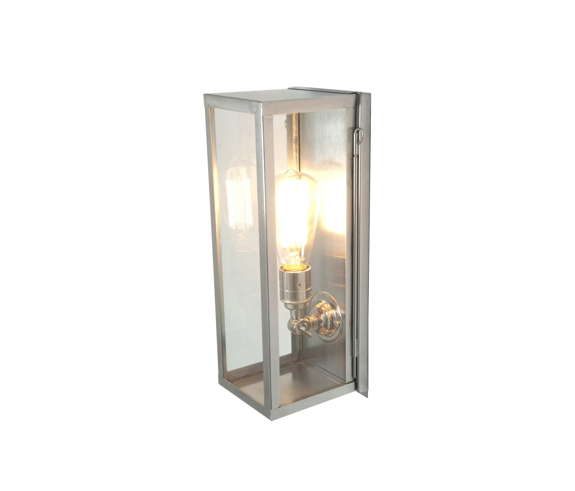 Glass Box Wall Lights : 7650 NARROW BOX WALL LIGHT, INTERNAL GLASS, POLISHED NICKEL, CLEAR GLASS - General lighting from..