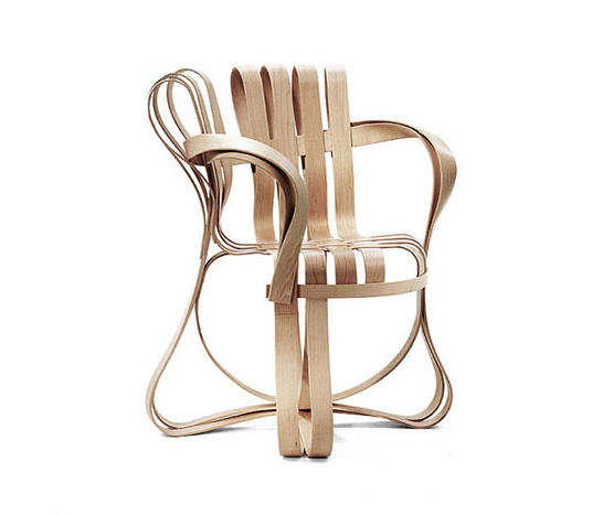 Ideal Gehry Cross Check Arm Chair by Knoll International Chairs