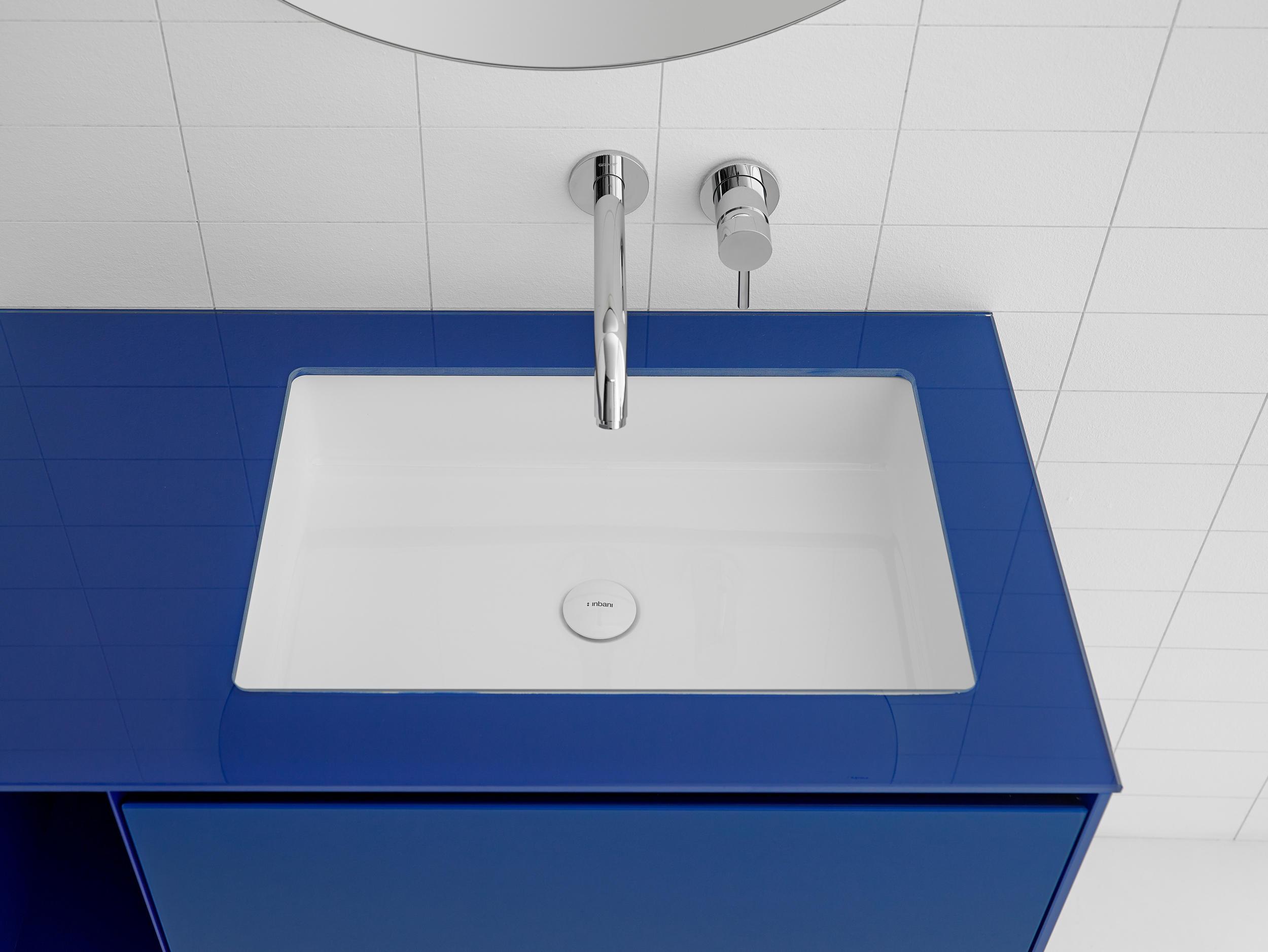 Merveilleux Glaze Rectangular Undermount Ceramilux® Sink By Inbani | Wash Basins