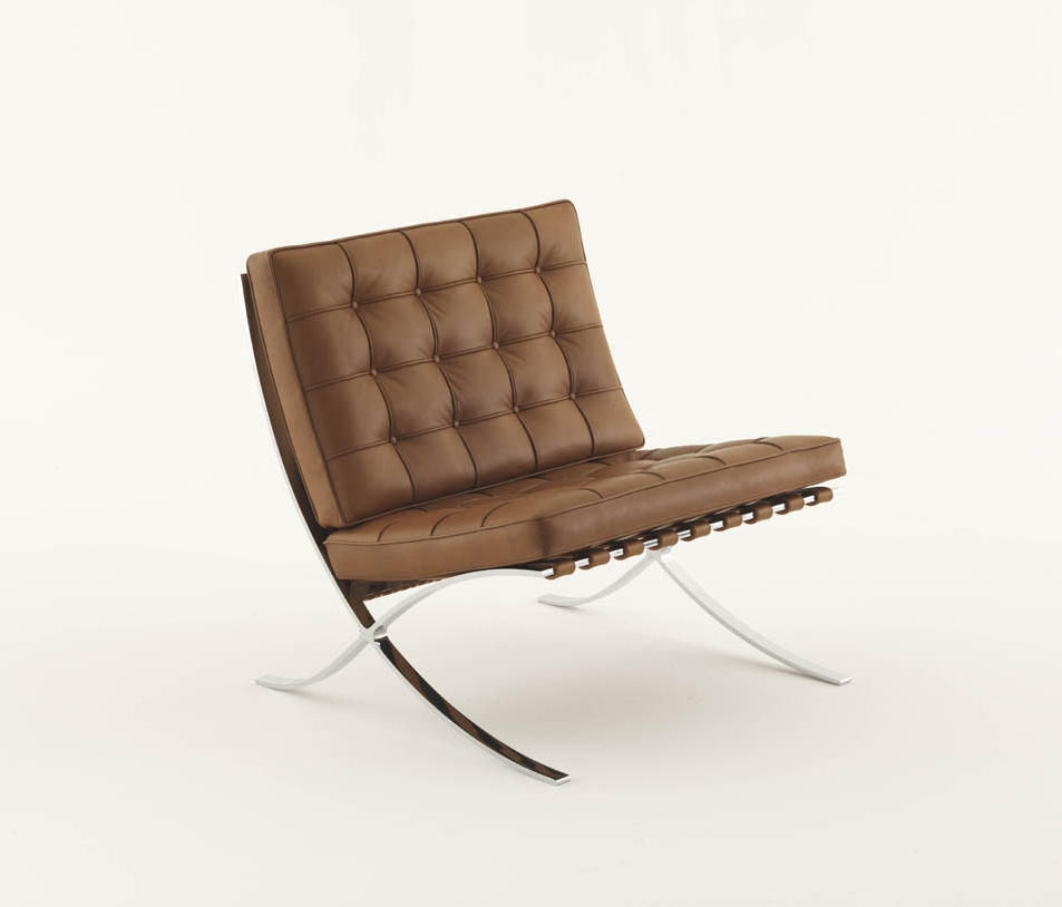 Barcelona relax chair lounge chairs from knoll for Sedia barcellona