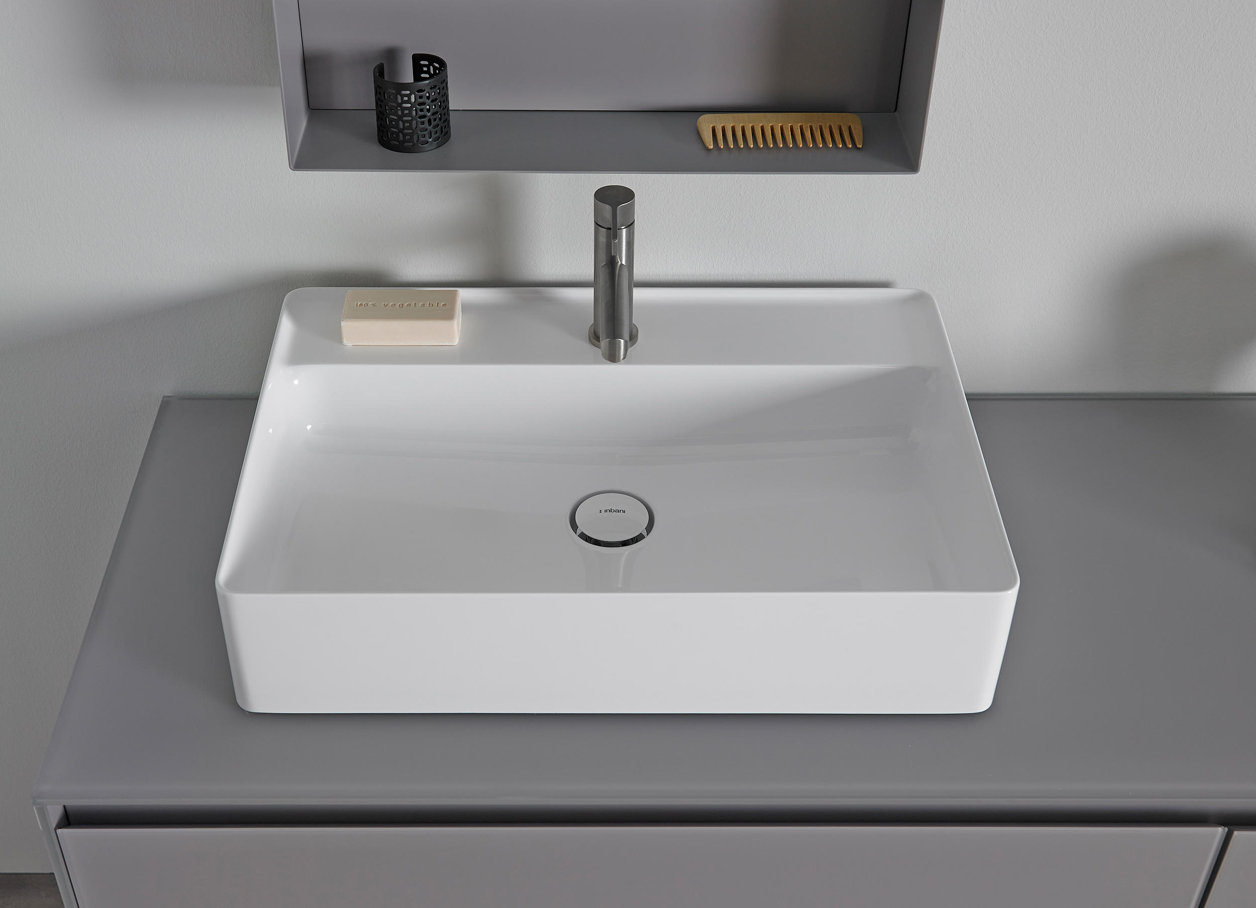 Bathroom Sinks Top Mount nest top mount ceramilux® sink - wash basins from inbani | architonic