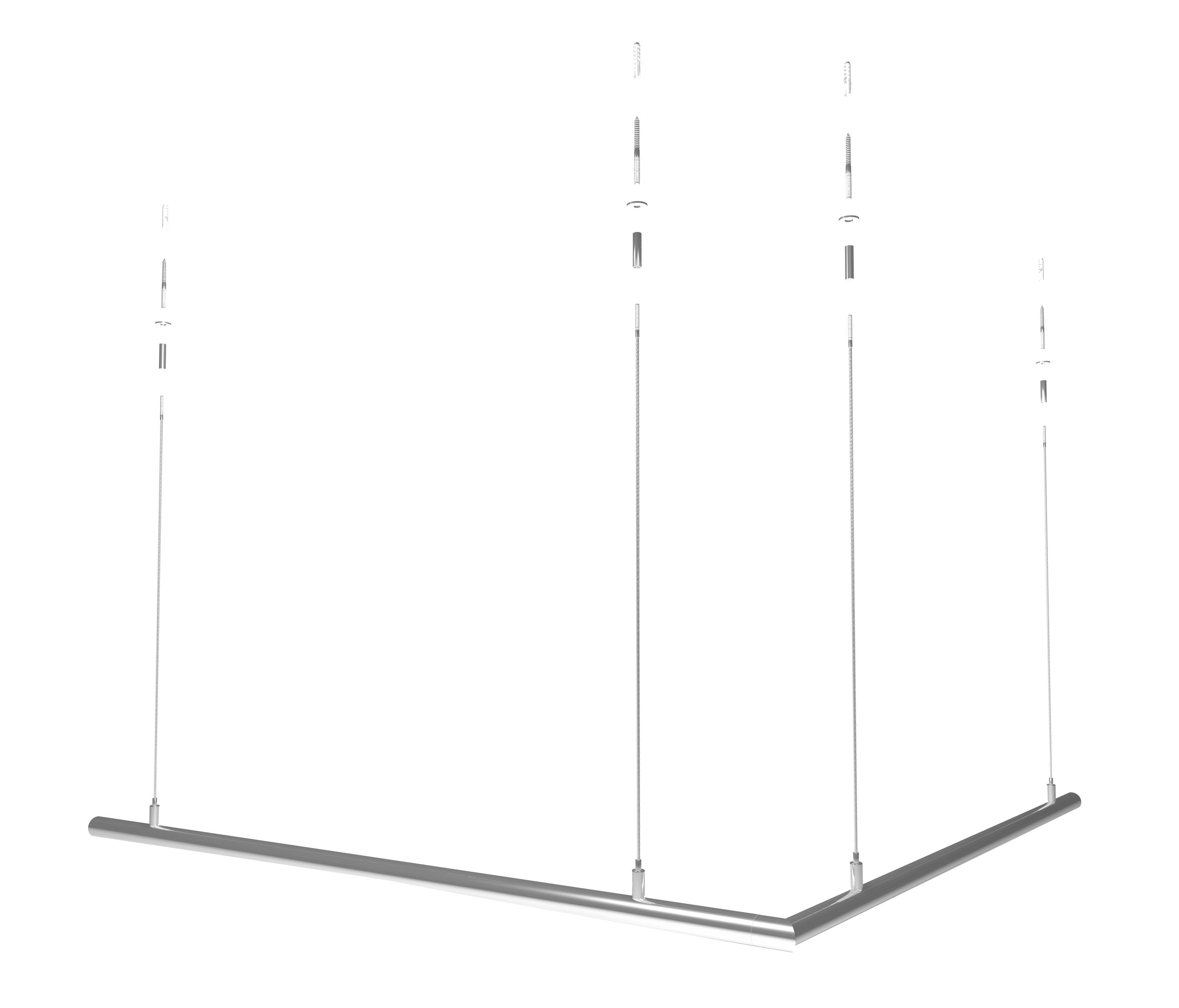 100 ceiling mounted clothes rack