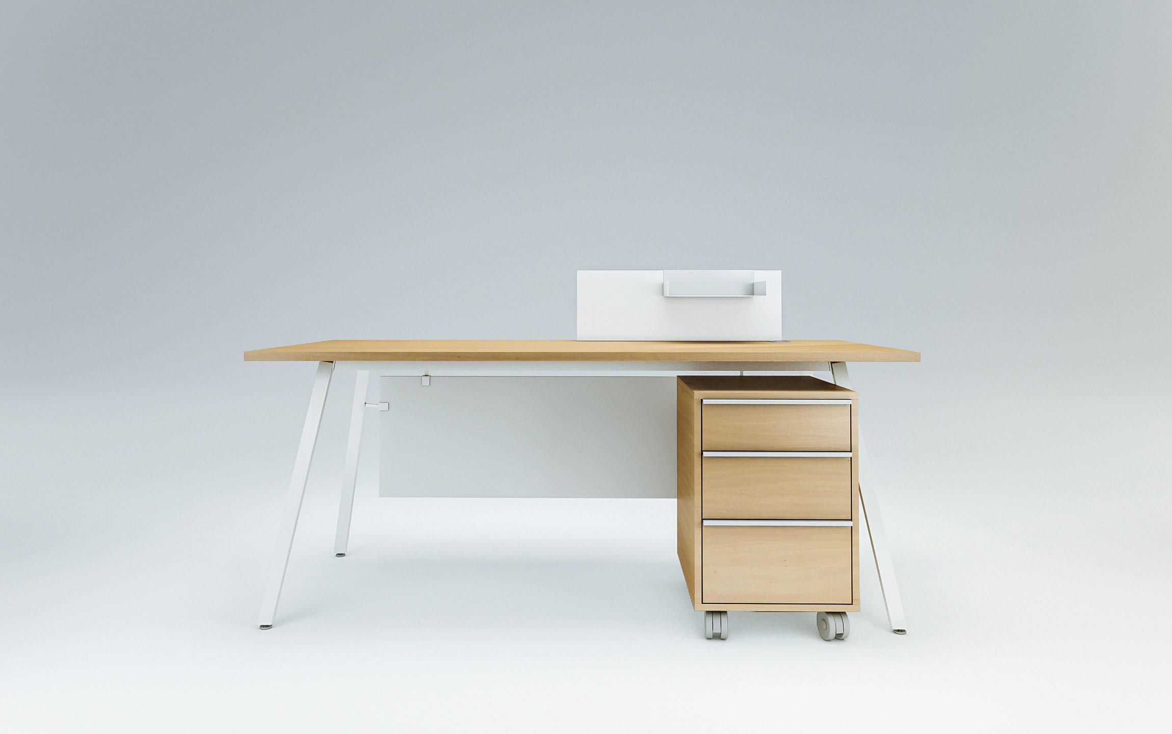Vu Single Office Desk By Ergolain Desks