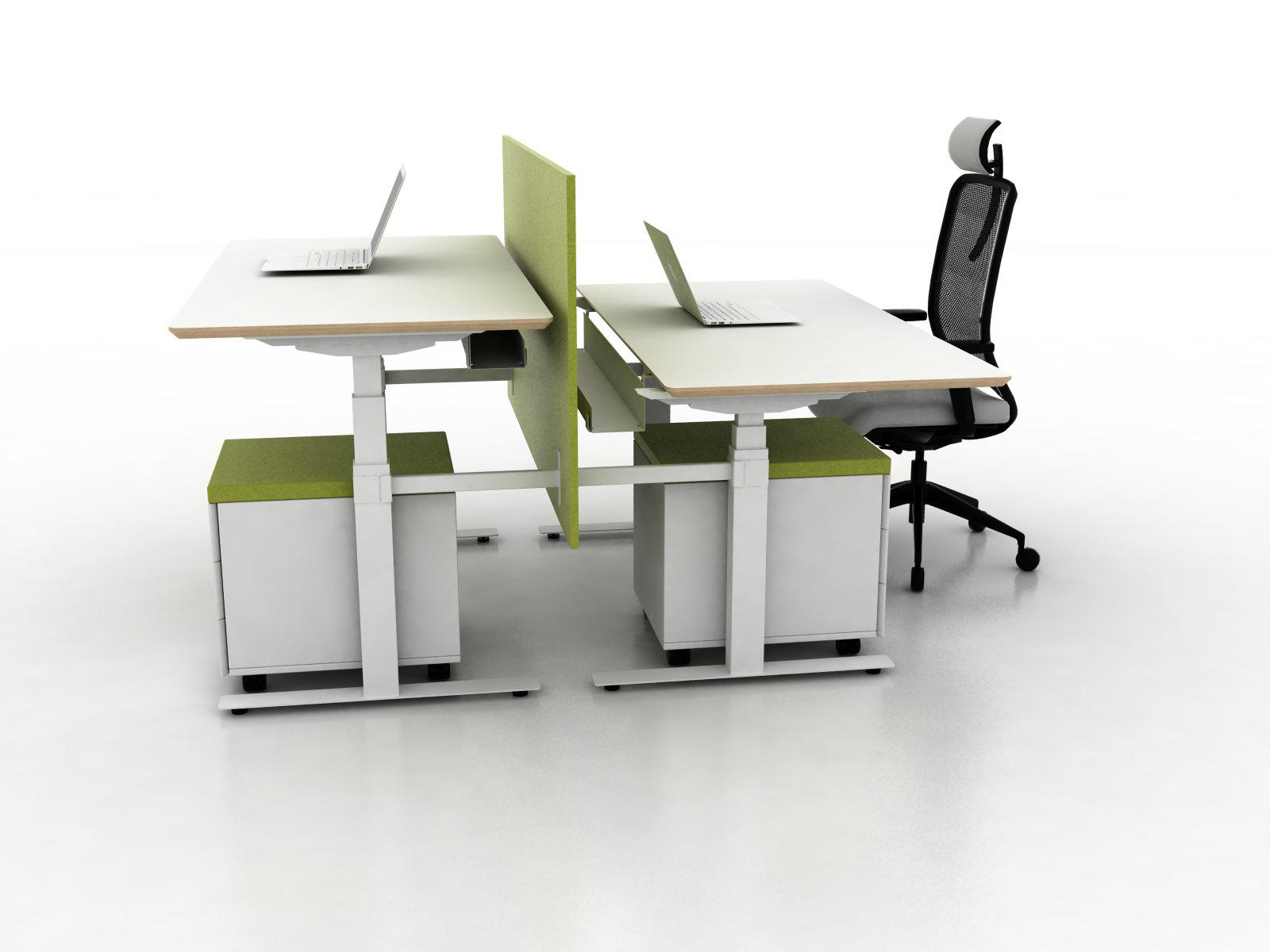 X-Ray Two-seat office desk  Architonic