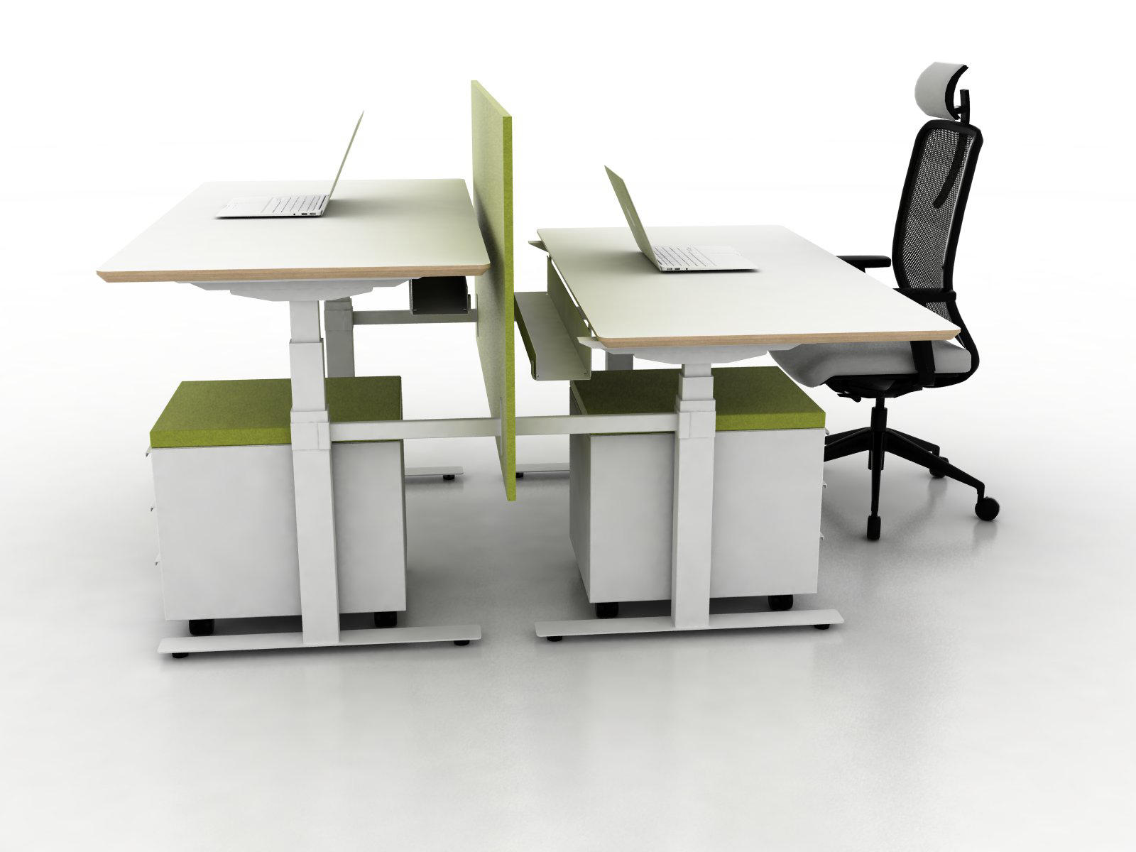 office desking. X-Ray Two-seat Office Desk By Ergolain   Desking Systems D