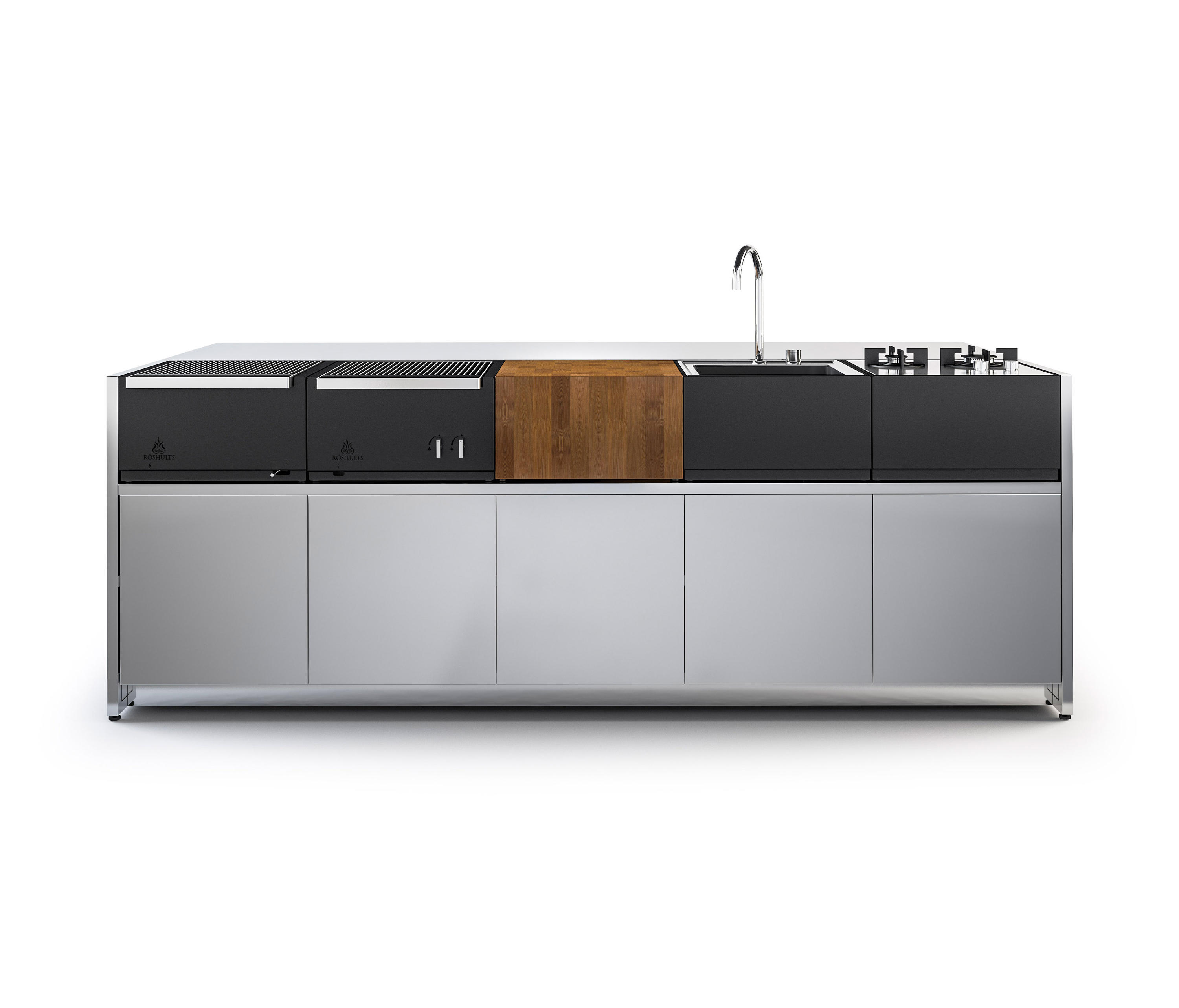 KITCHEN ISLAND 5 MODULES - Outdoor kitchens from Röshults | Architonic