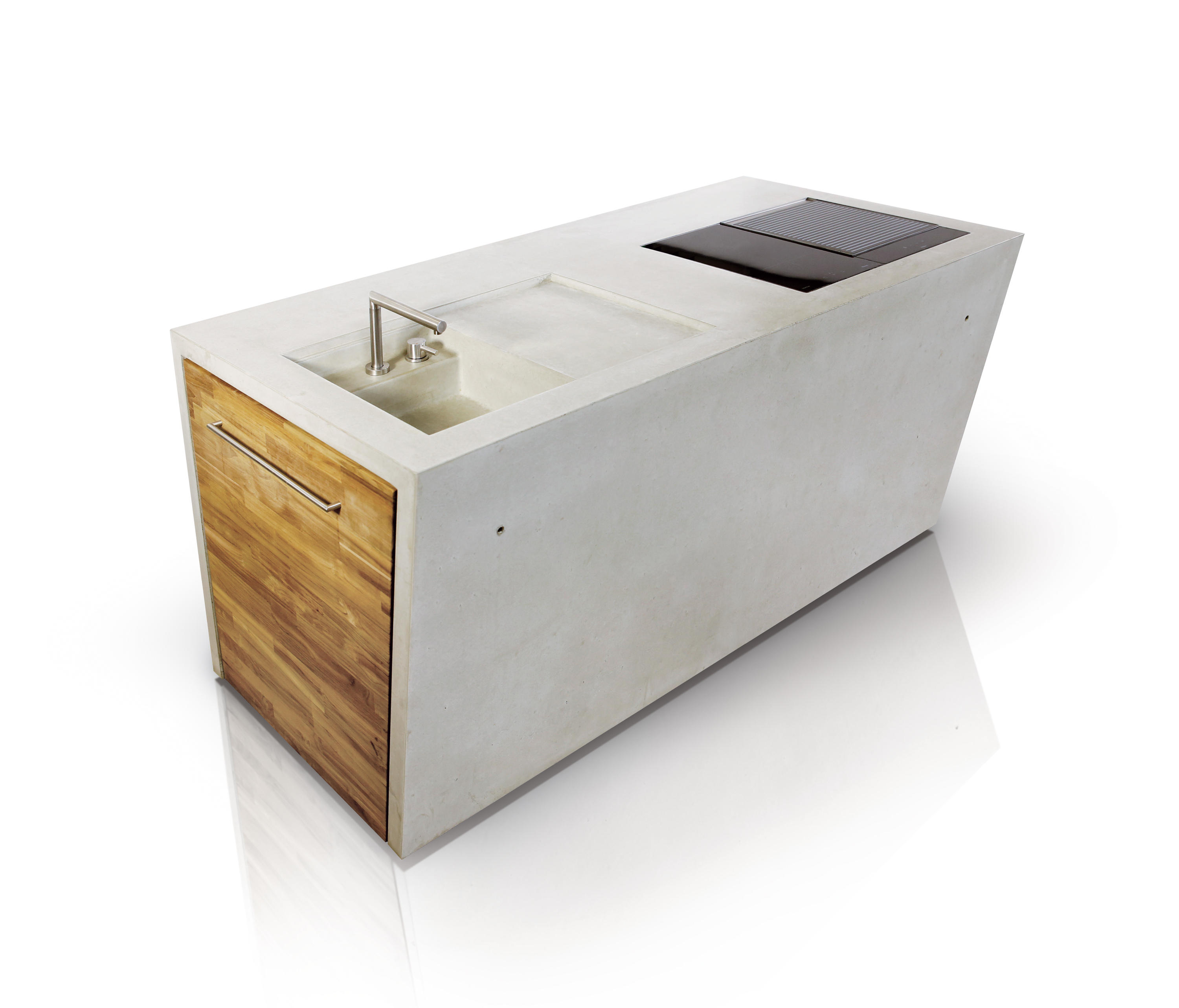 The Concrete Outdoor Kuche Modulkuchen Von Dade Design Ag