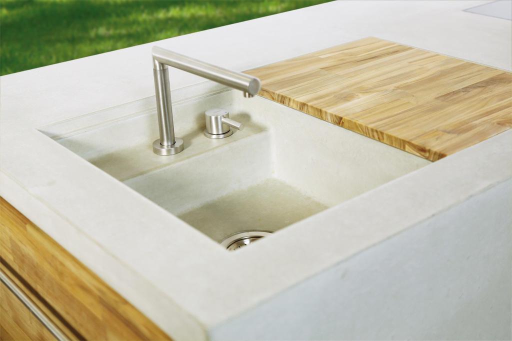 Outdoor Küche Mit Spüle : The concrete outdoor kÜche modulküchen von dade design ag