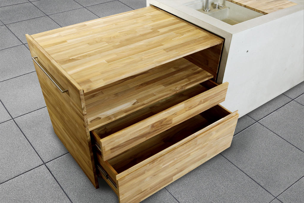 Outdoor Küche Türen : The concrete outdoor kÜche modulküchen von dade design ag