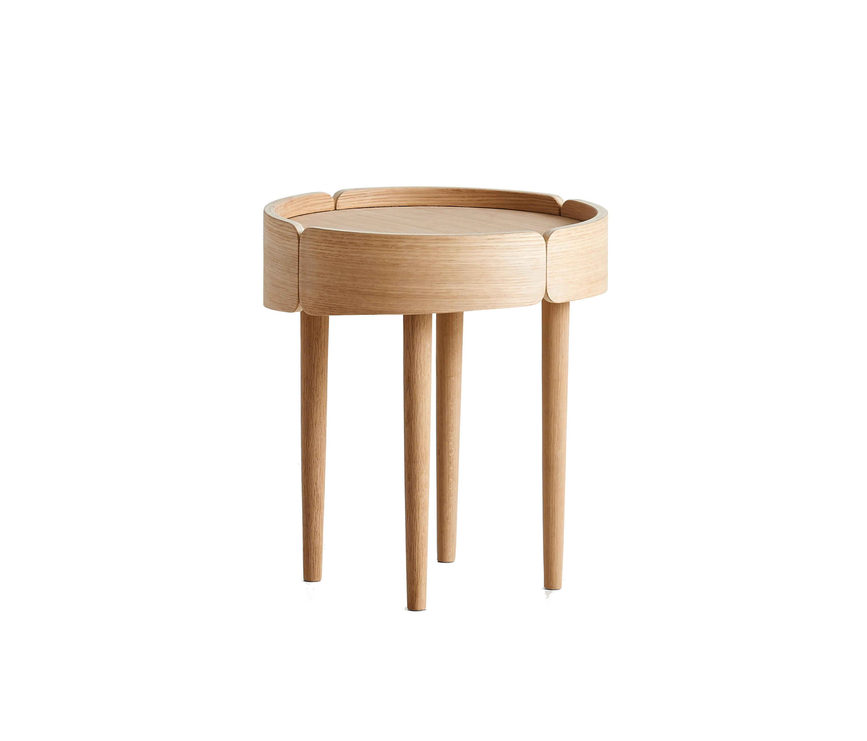 Skirt Coffee Table High By WOUD | Side Tables ...