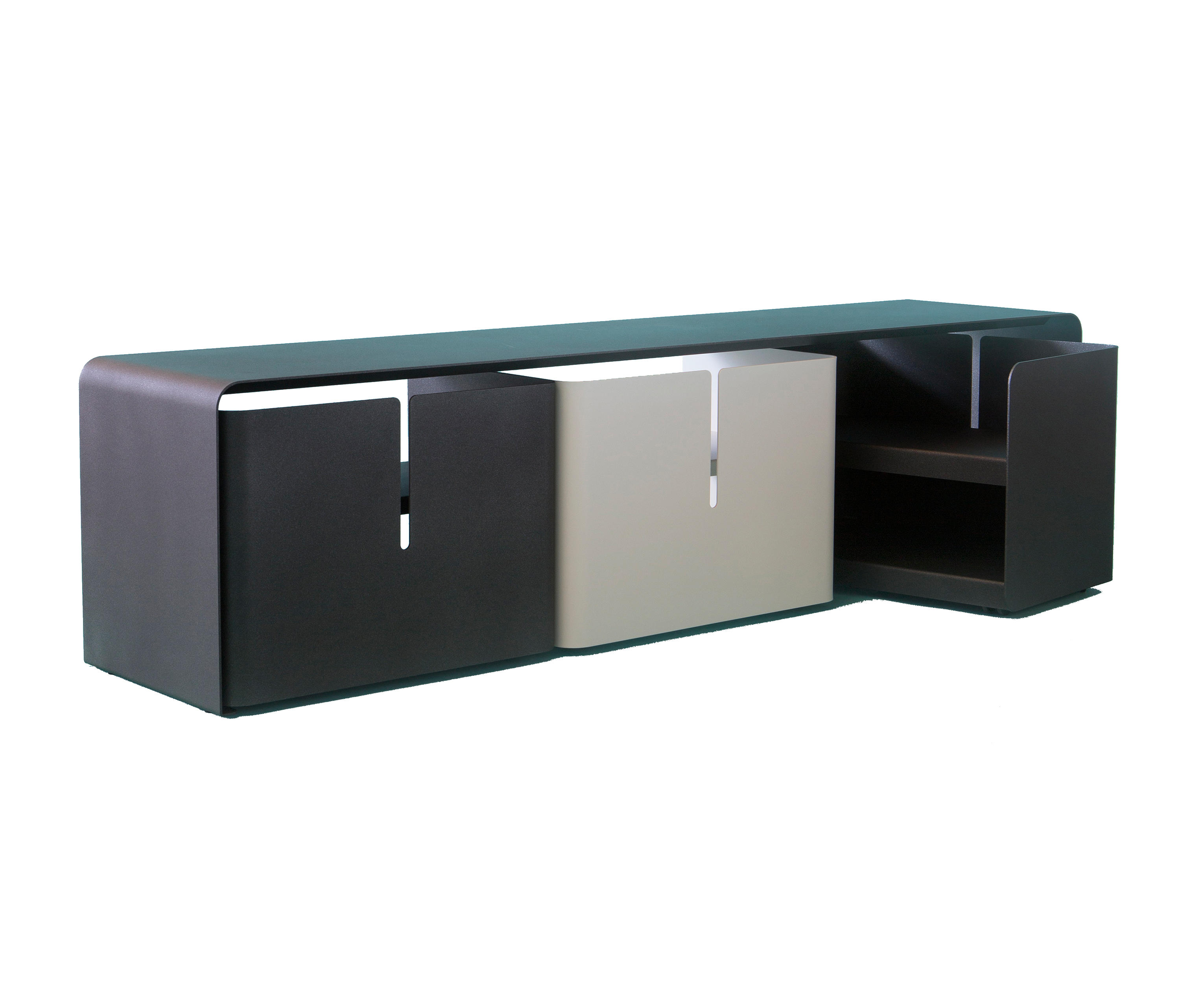 Barber Sideboard Multimedia Sideboards From Mati Re Grise  # Meuble Tv Invisible