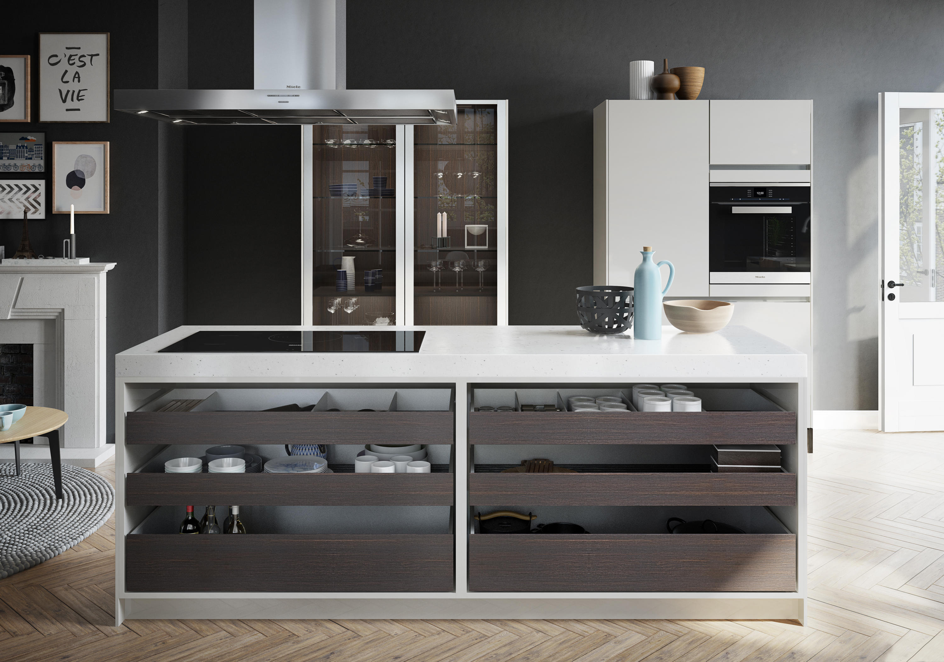 urban se fitted kitchens from siematic architonic. Black Bedroom Furniture Sets. Home Design Ideas