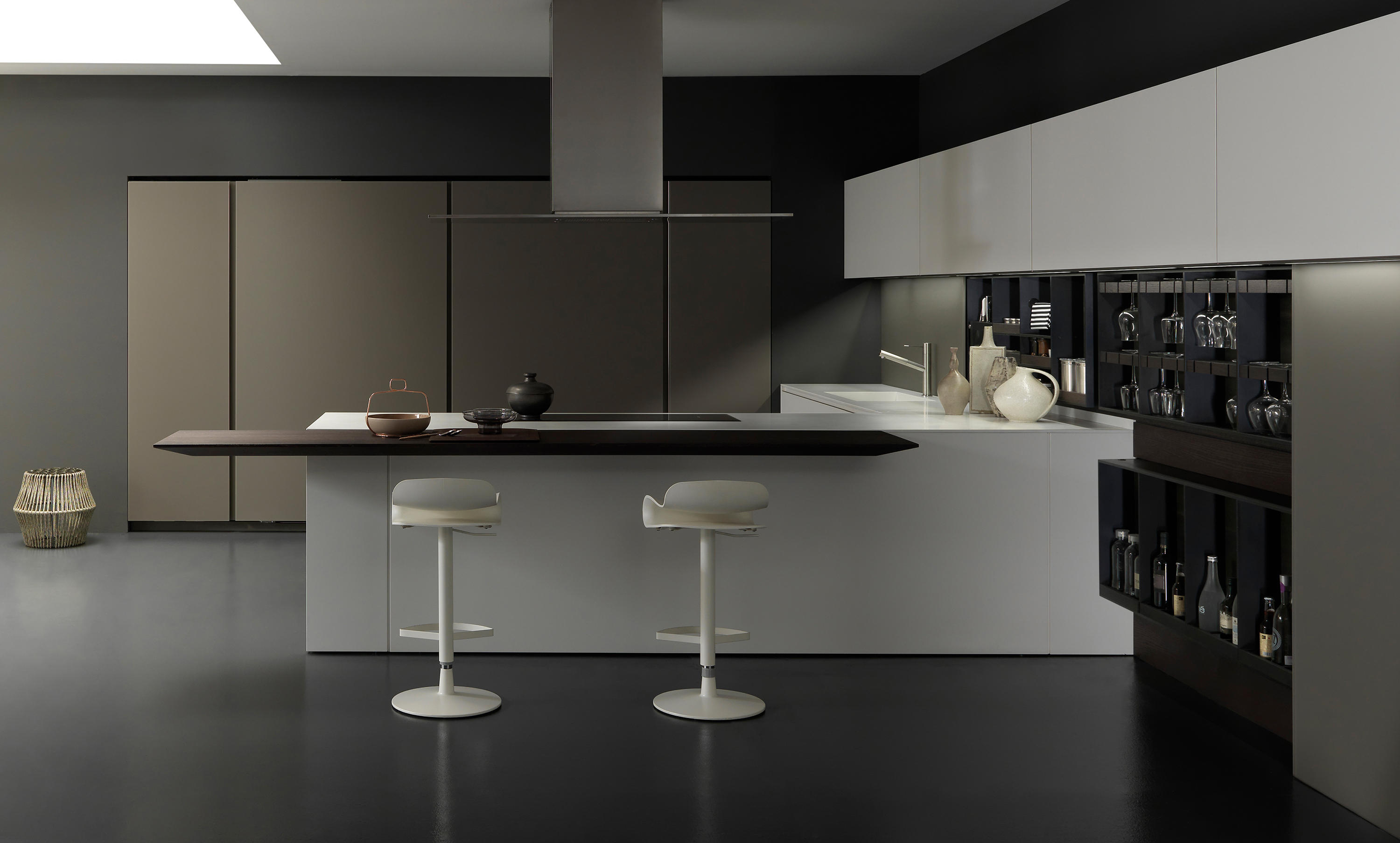 ... Light 1 white corner arrangement by Modulnova | Fitted kitchens ...