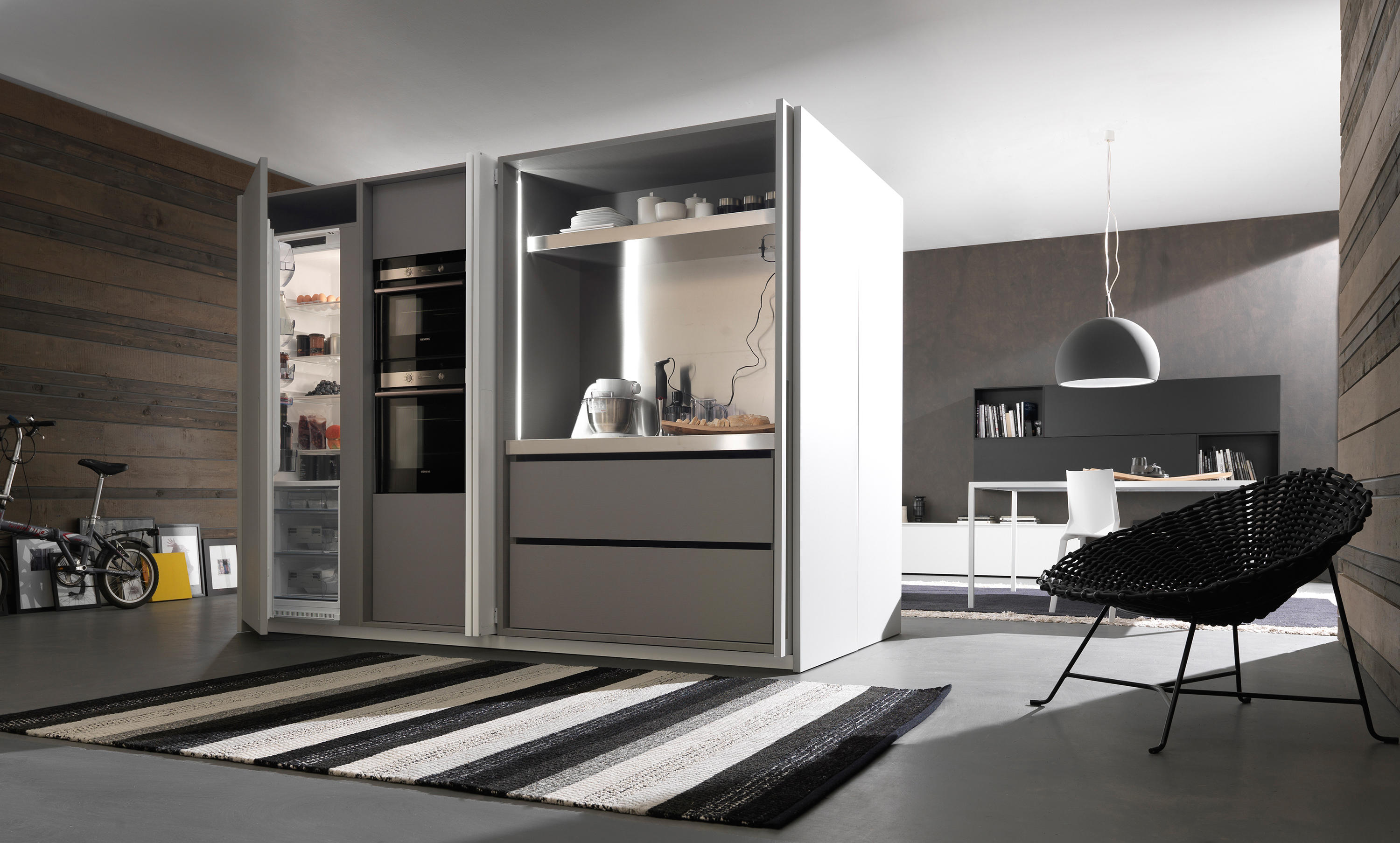 Kitchen closet 1 fly compact kitchens from modulnova - Armadio cucina richiudibile ...