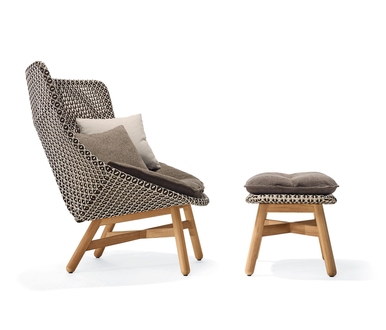 mbrace sessel hocker gartensessel von dedon architonic. Black Bedroom Furniture Sets. Home Design Ideas