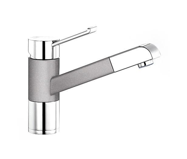 blanco zenos s silgranit alu metallic chrome kitchen taps from blanco architonic. Black Bedroom Furniture Sets. Home Design Ideas