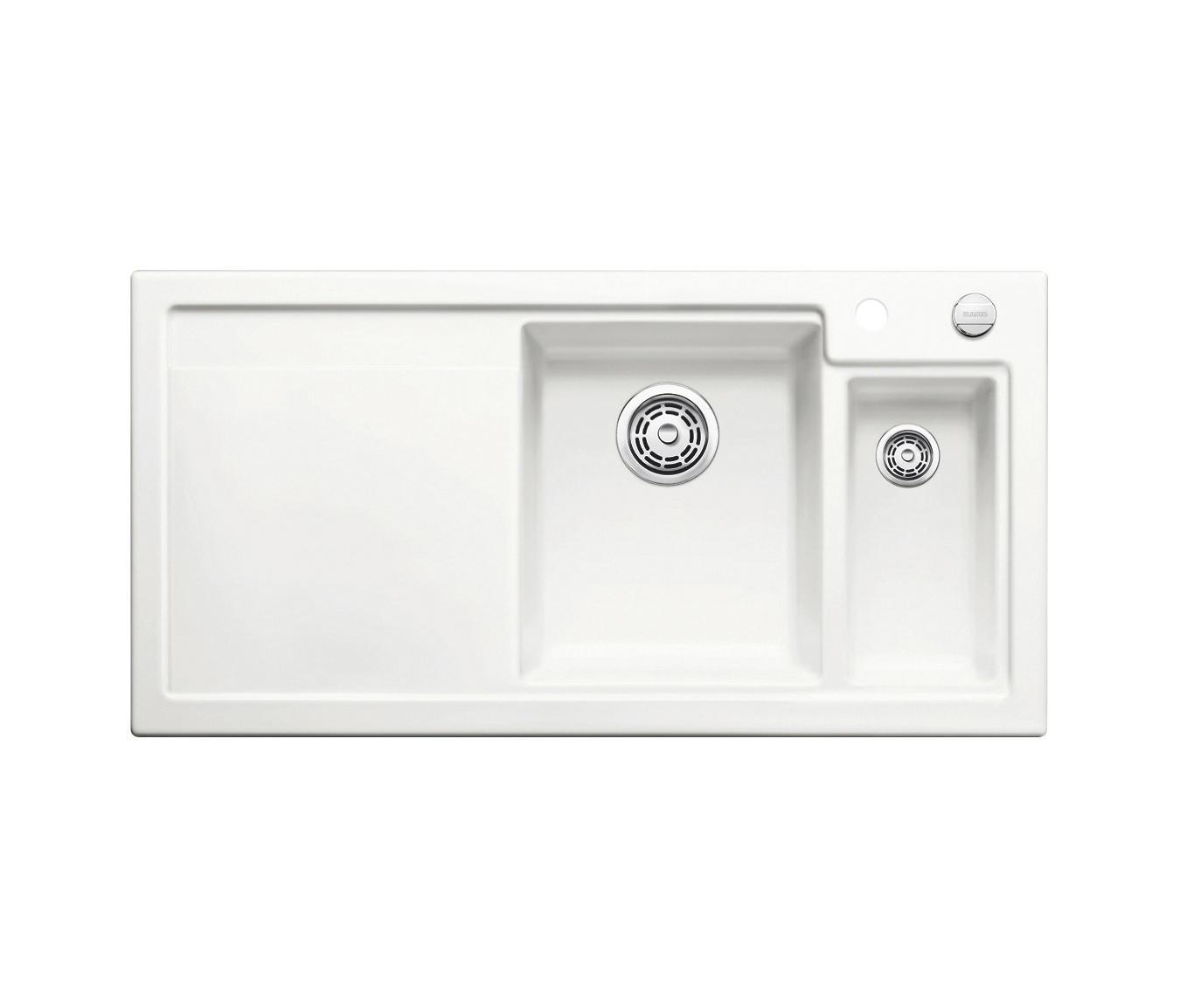 blanco axon ii 6 s keramik kristallweiss k chensp lbecken von blanco architonic. Black Bedroom Furniture Sets. Home Design Ideas