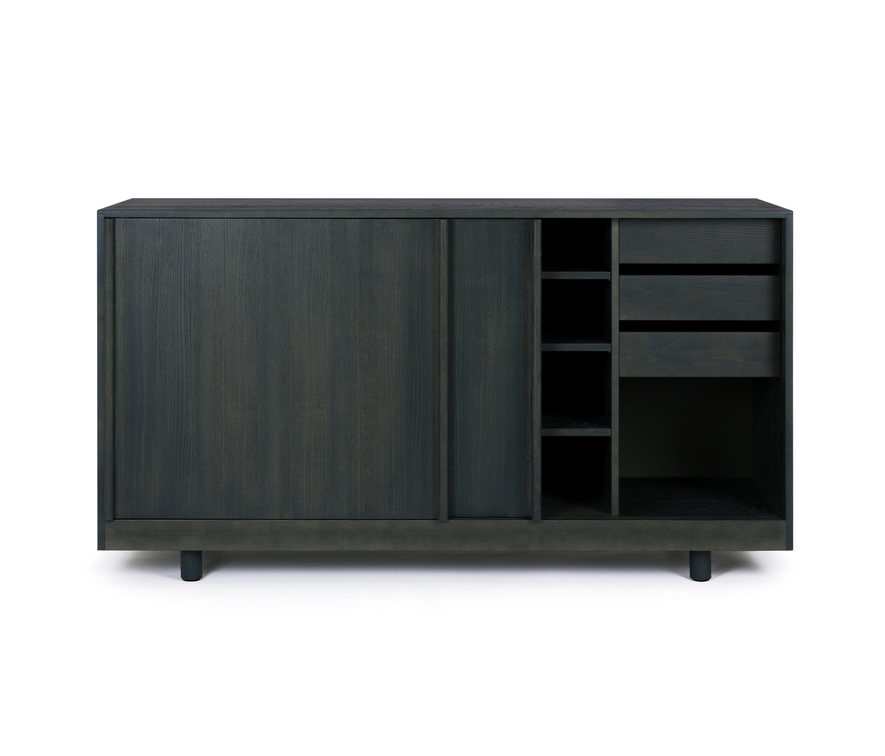 sideboard with sliding doors forest green buffets de. Black Bedroom Furniture Sets. Home Design Ideas