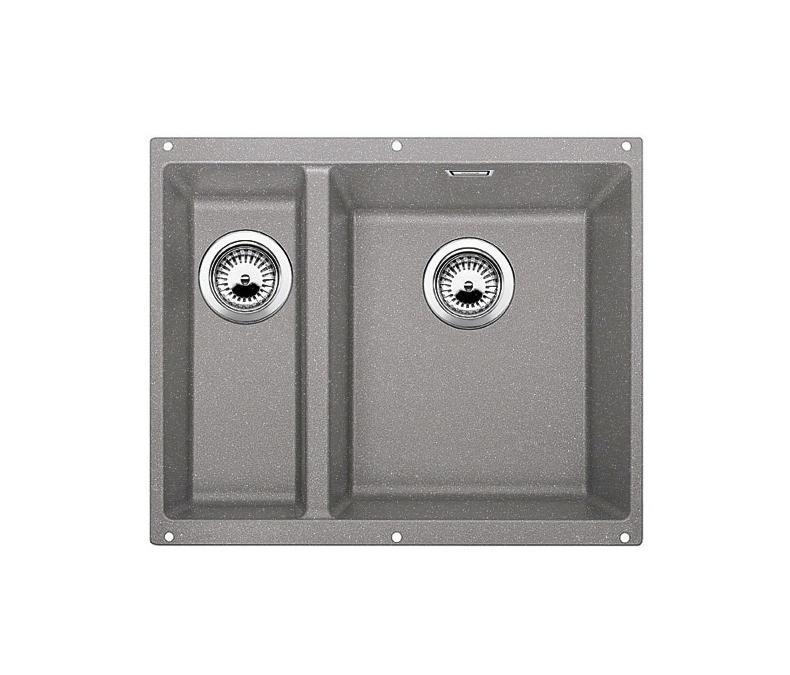 Küchenspülbecken Unterbau ~ blanco subline 340 160 u silgranit alu metallic
