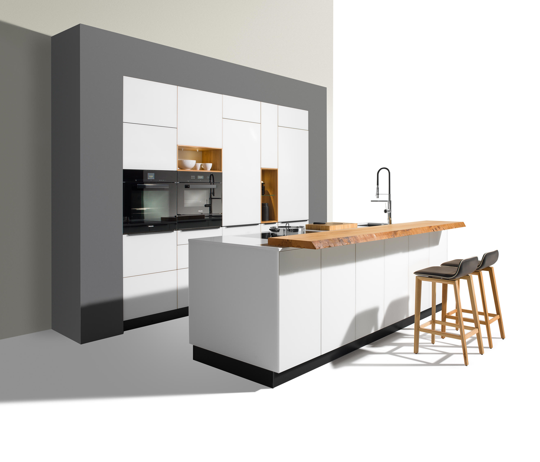Edelstahlrinnen Terren | Team 7 Kuche Linee Solid Wood Kitchen With Alcove Element With
