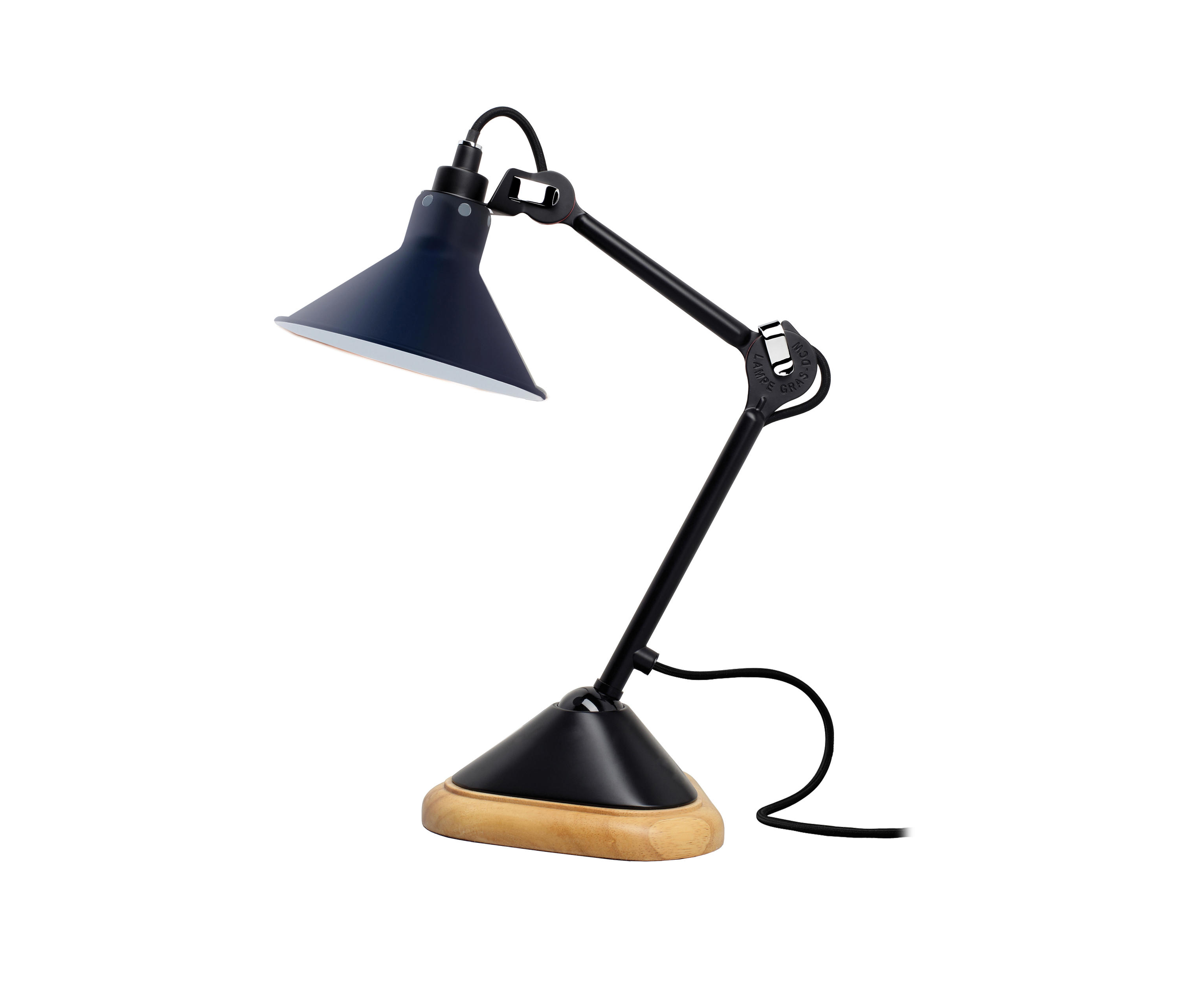 lampe gras n 207 blue luminaires de table de dcw ditions architonic. Black Bedroom Furniture Sets. Home Design Ideas
